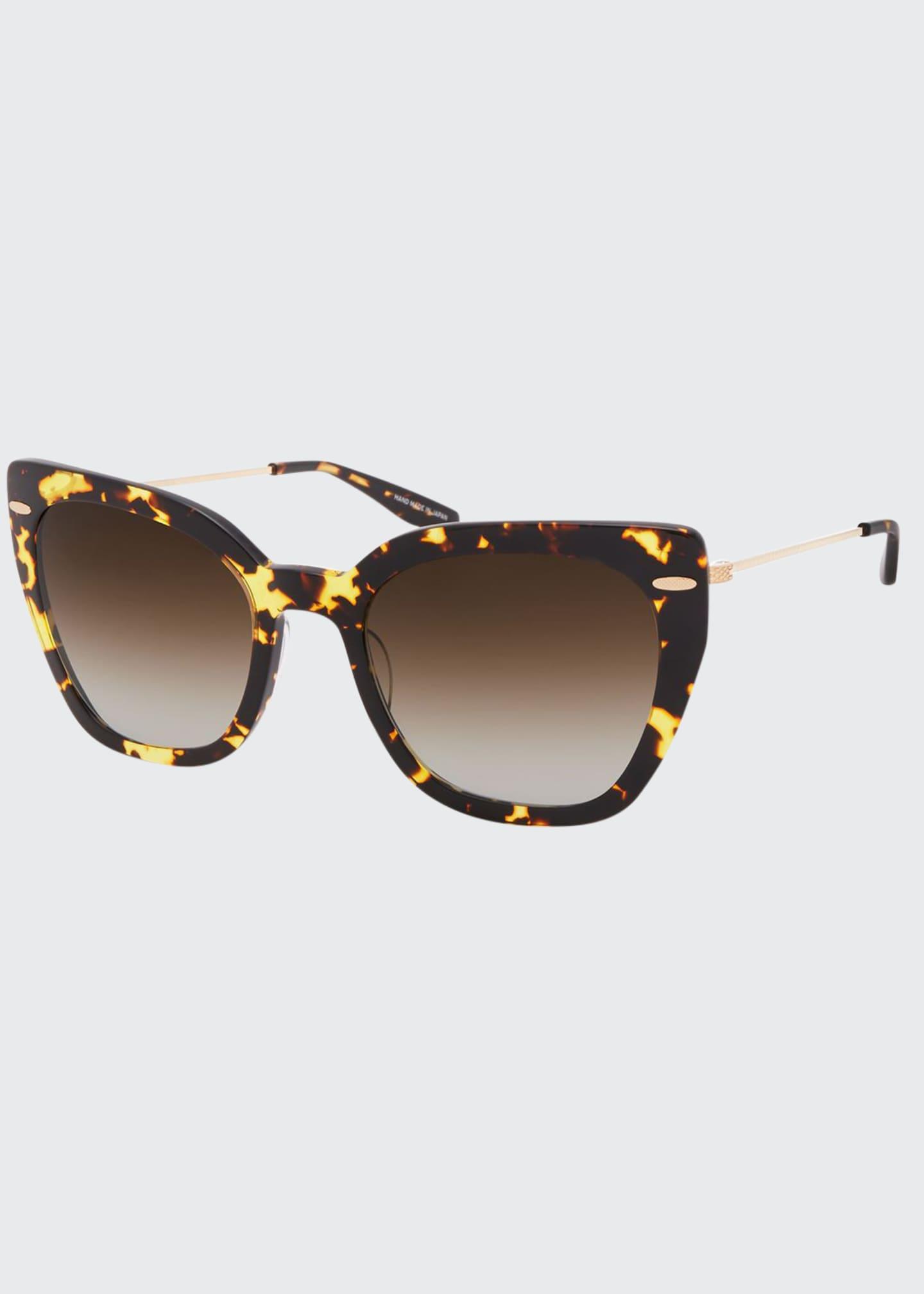 Barton Perreira Catroux Acetate & Titanium Cat-Eye Sunglasses