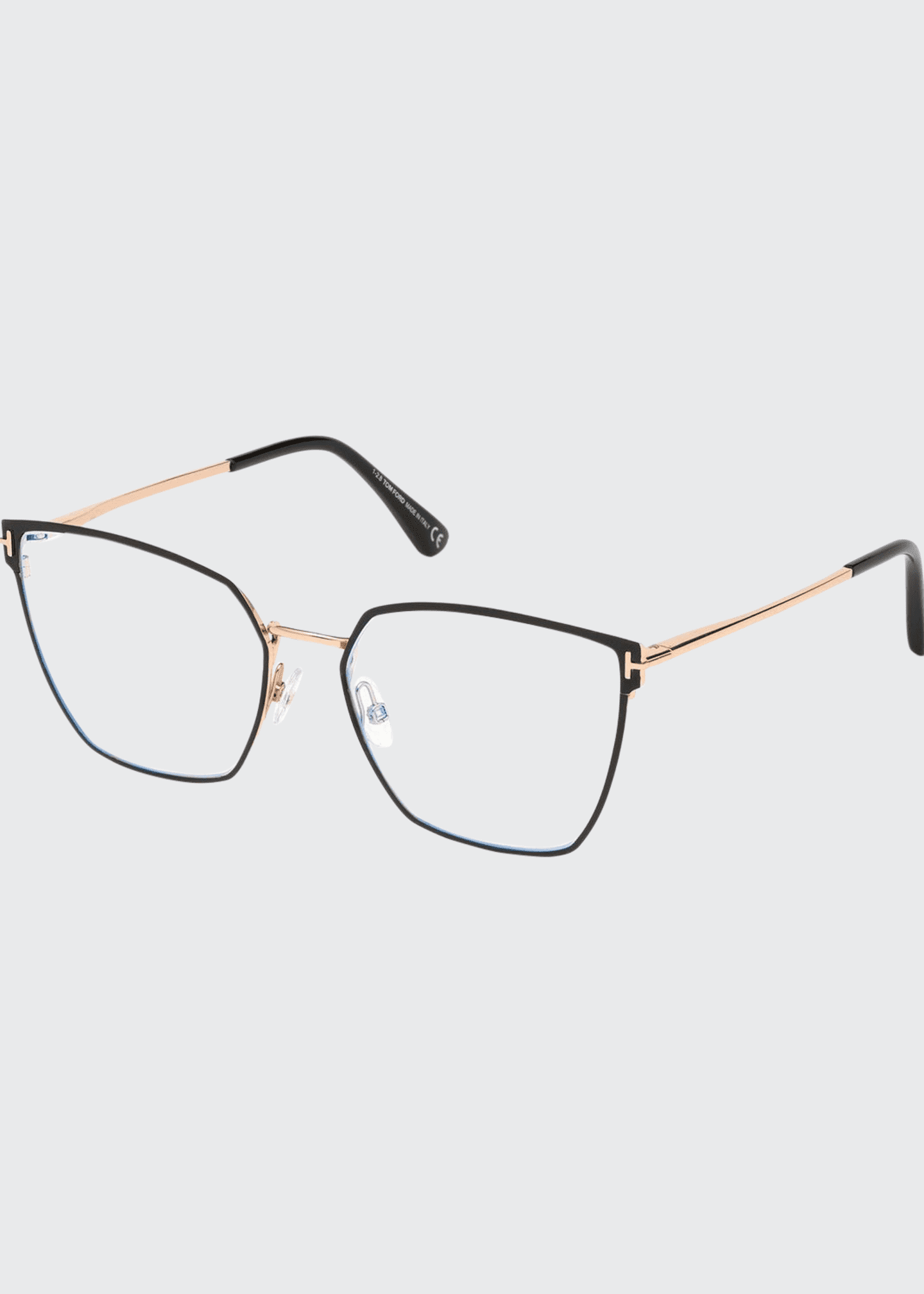 Image 1 of 1: Metal Cat-Eye Optical Frames