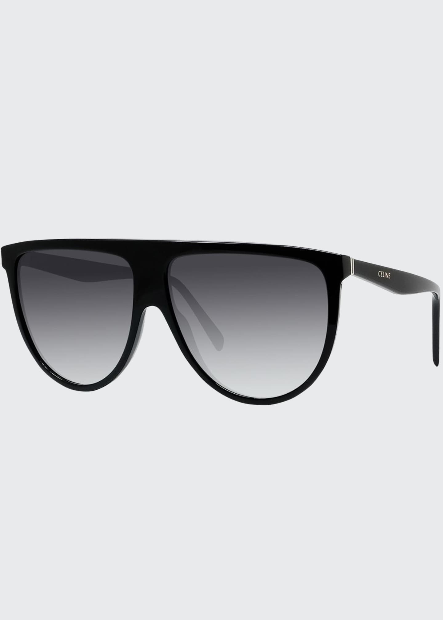 Image 1 of 3: Men's Flattop Gradient Shield Sunglasses