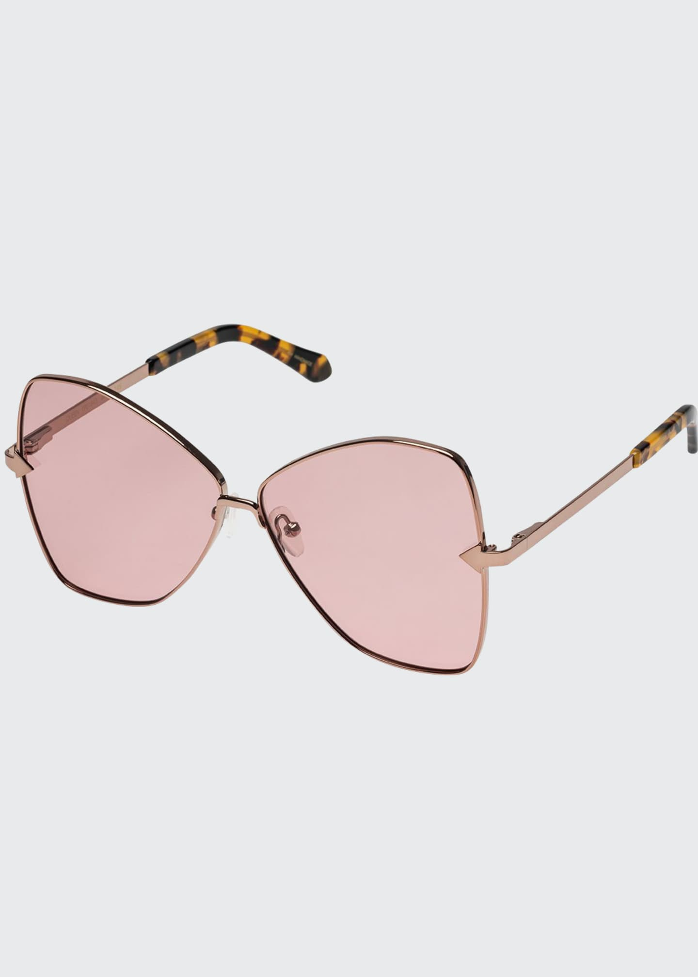 Karen Walker Queen Metal Butterfly Sunglasses