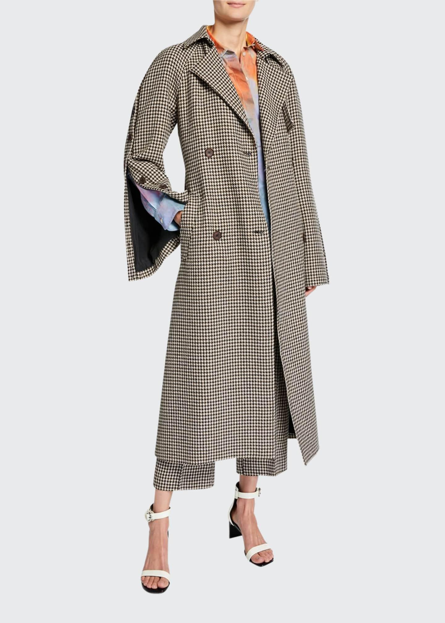 Rokh Herringbone Wool Trench Coat
