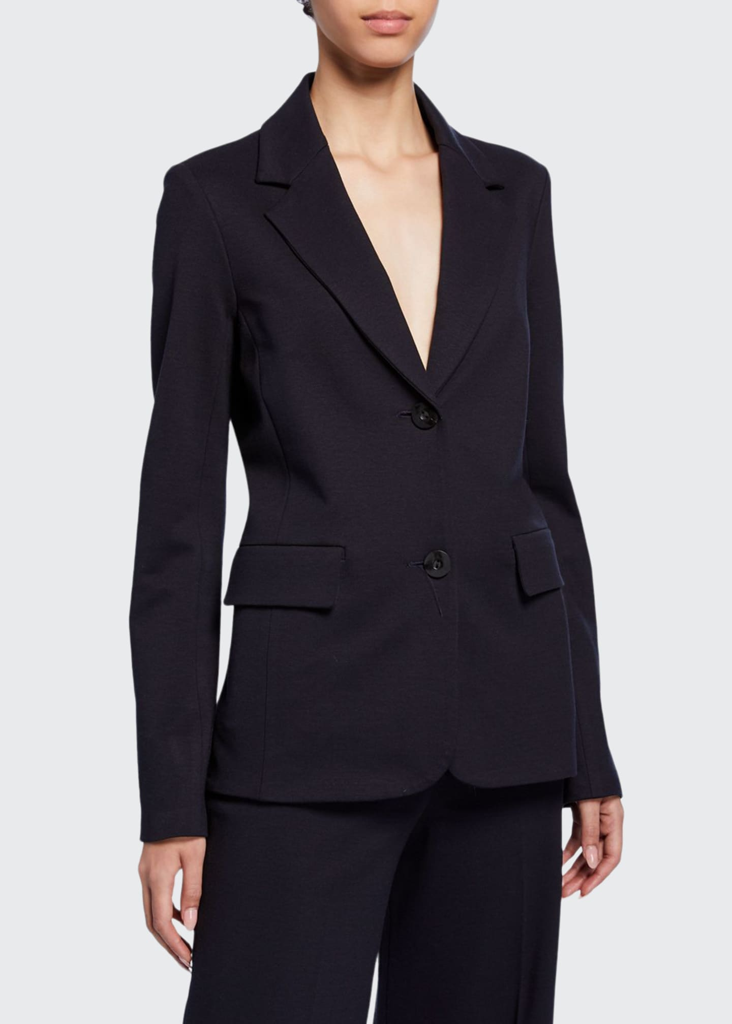 Image 1 of 3: Fitted Wool Crepe Jacket