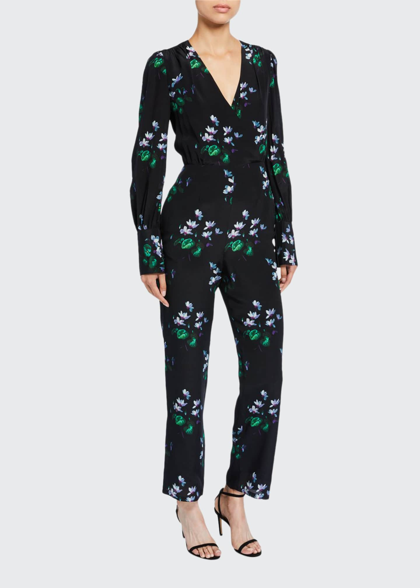 Image 1 of 2: Floral Wrap Jumpsuit