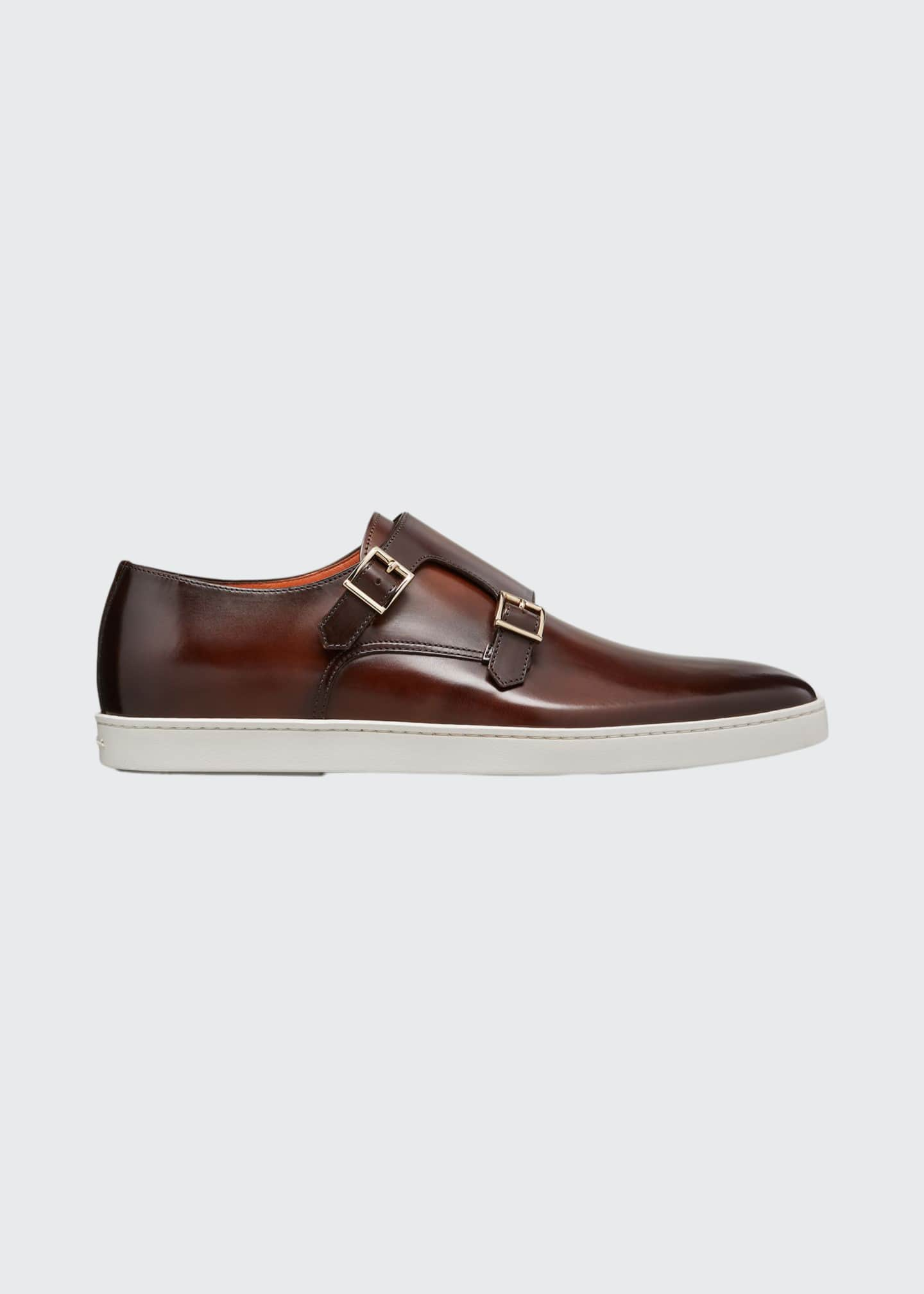 Image 1 of 5: Men's Freemont Double-Monk Leather Sneakers