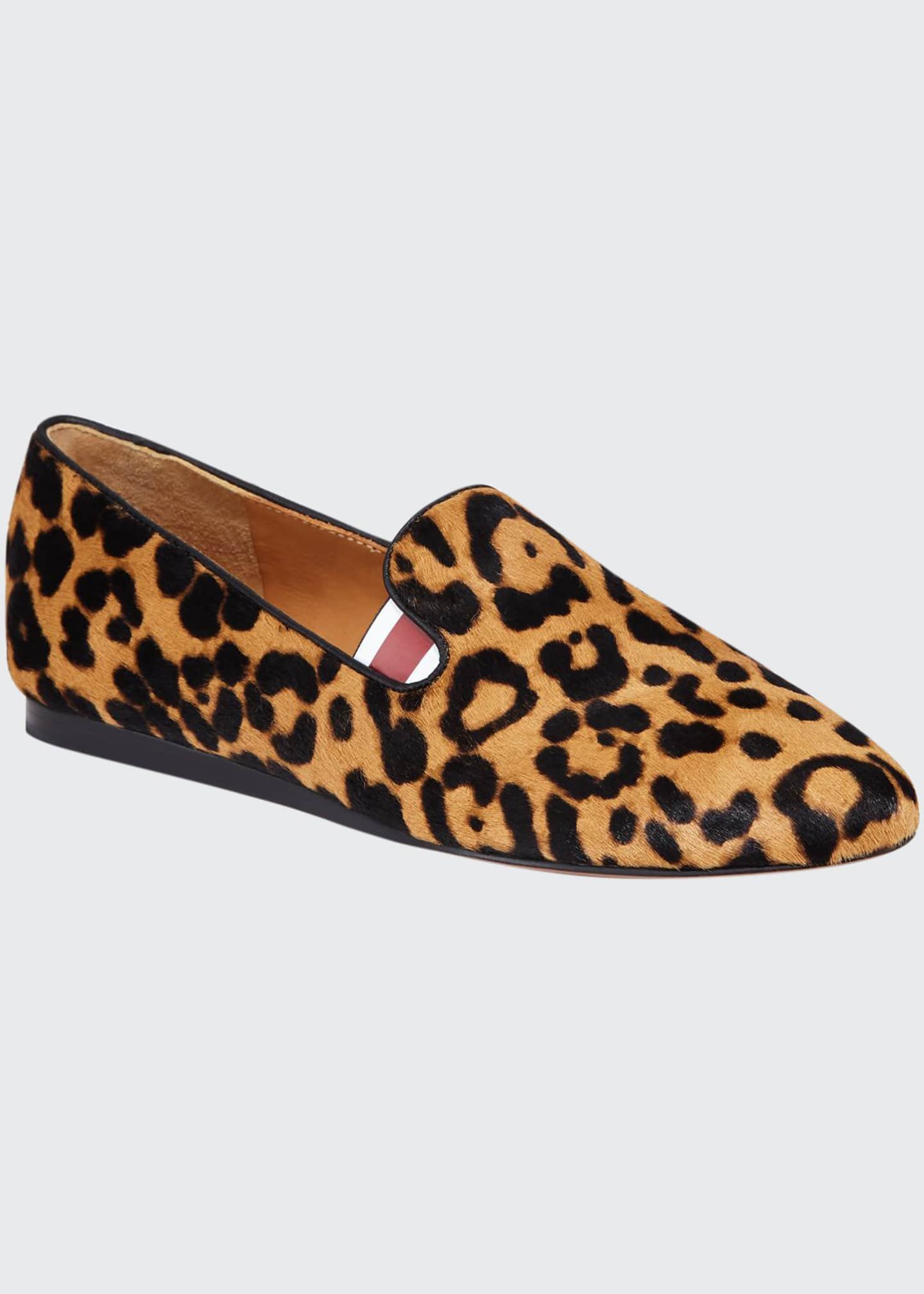 Image 1 of 3: Griffin Leopard Calf Hair Loafers