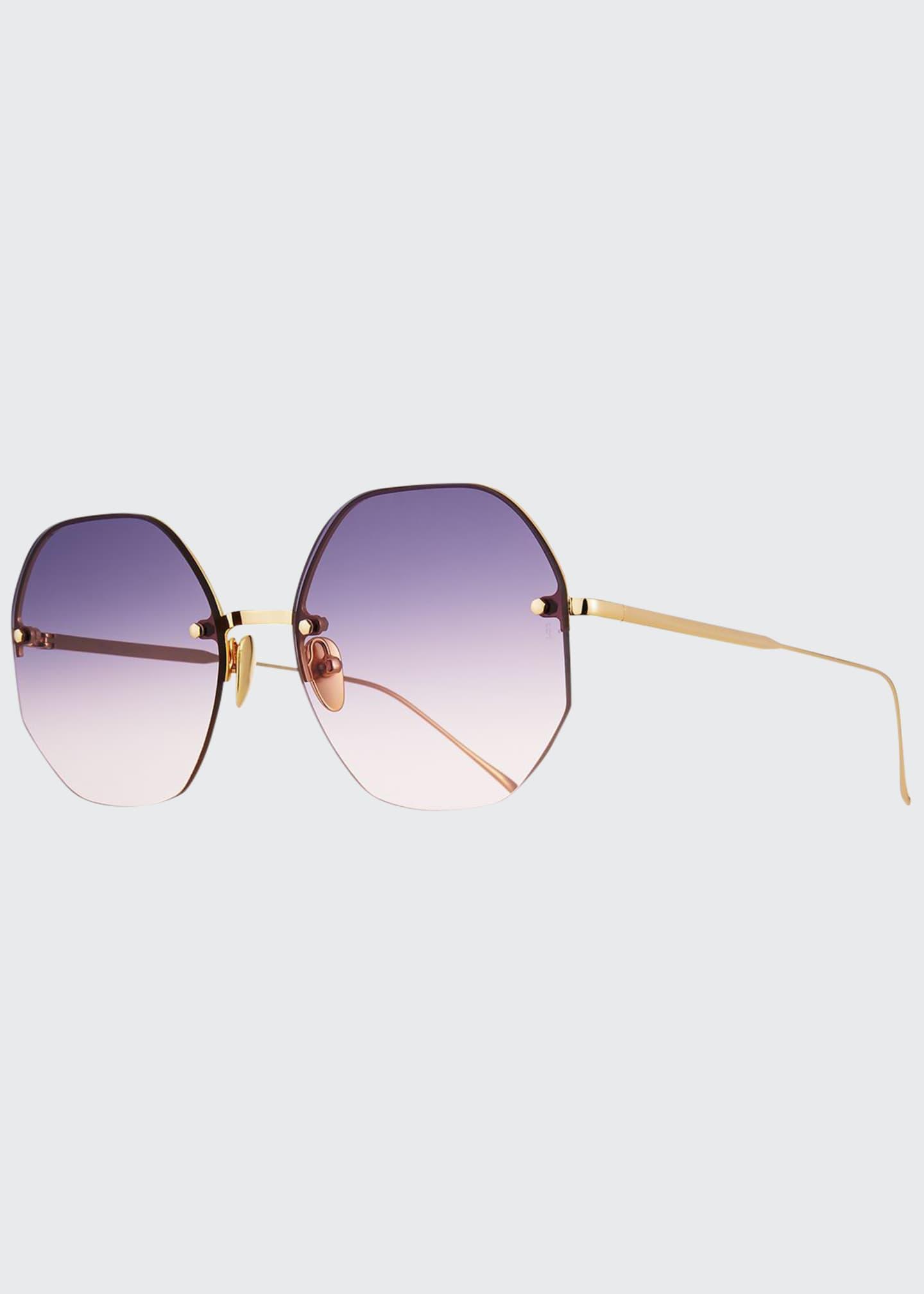 Sunday Somewhere Mia Rimless Octagonal Sunglasses