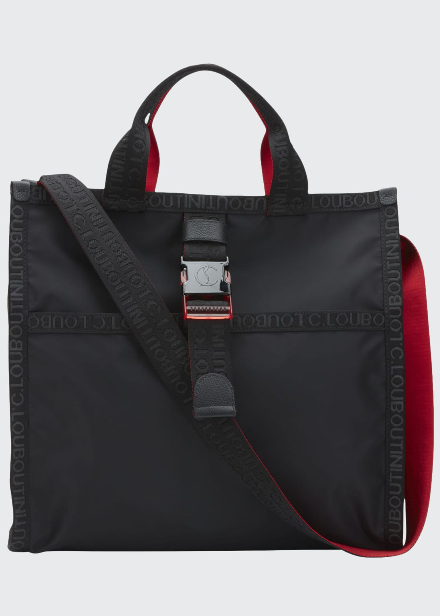 Christian Louboutin Men's Loubiclic Nylon Logo Tote Bag