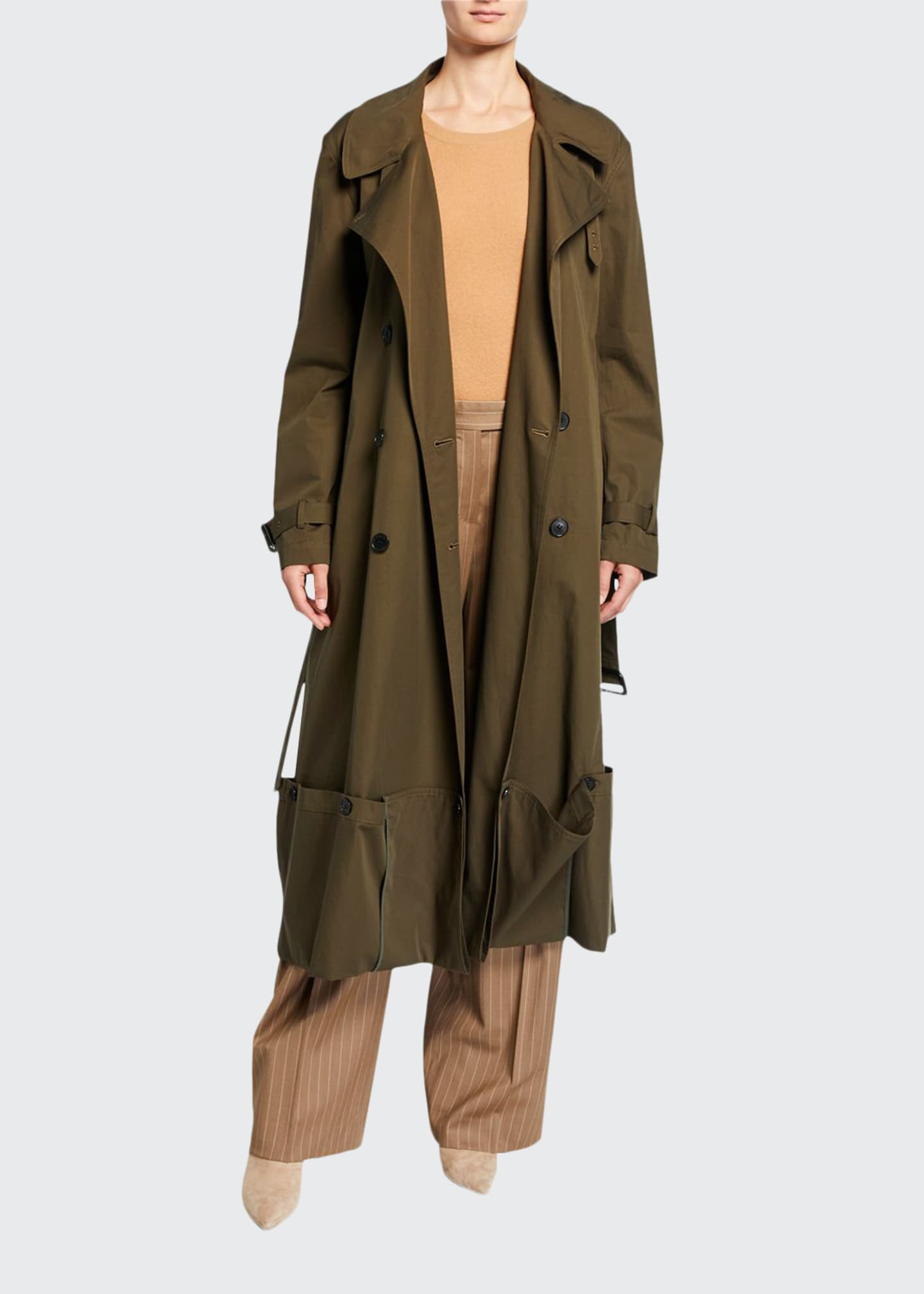 JW Anderson Double-Breasted Folded Hem Coat