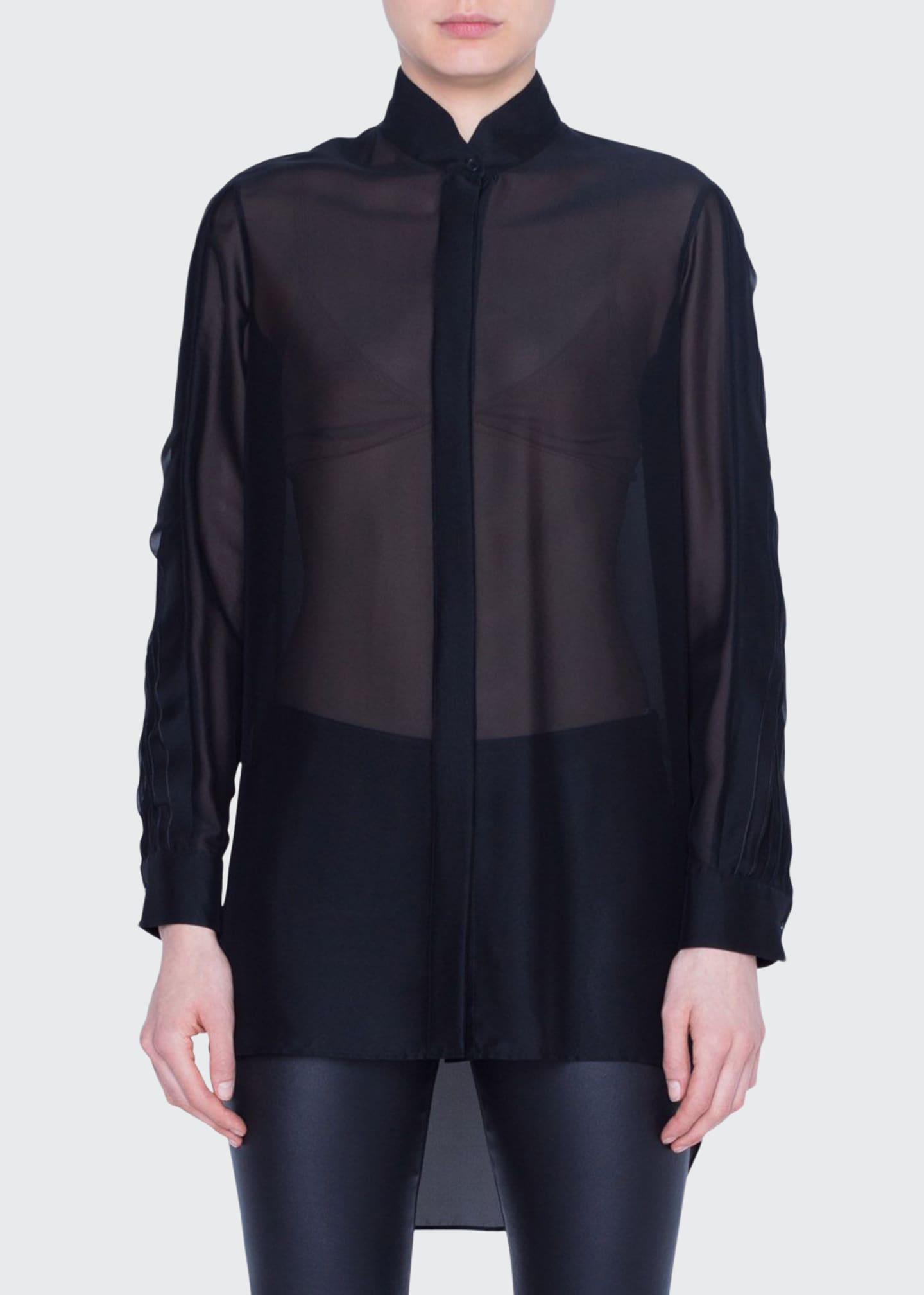 Akris punto Semisheer Button-Front Shirt