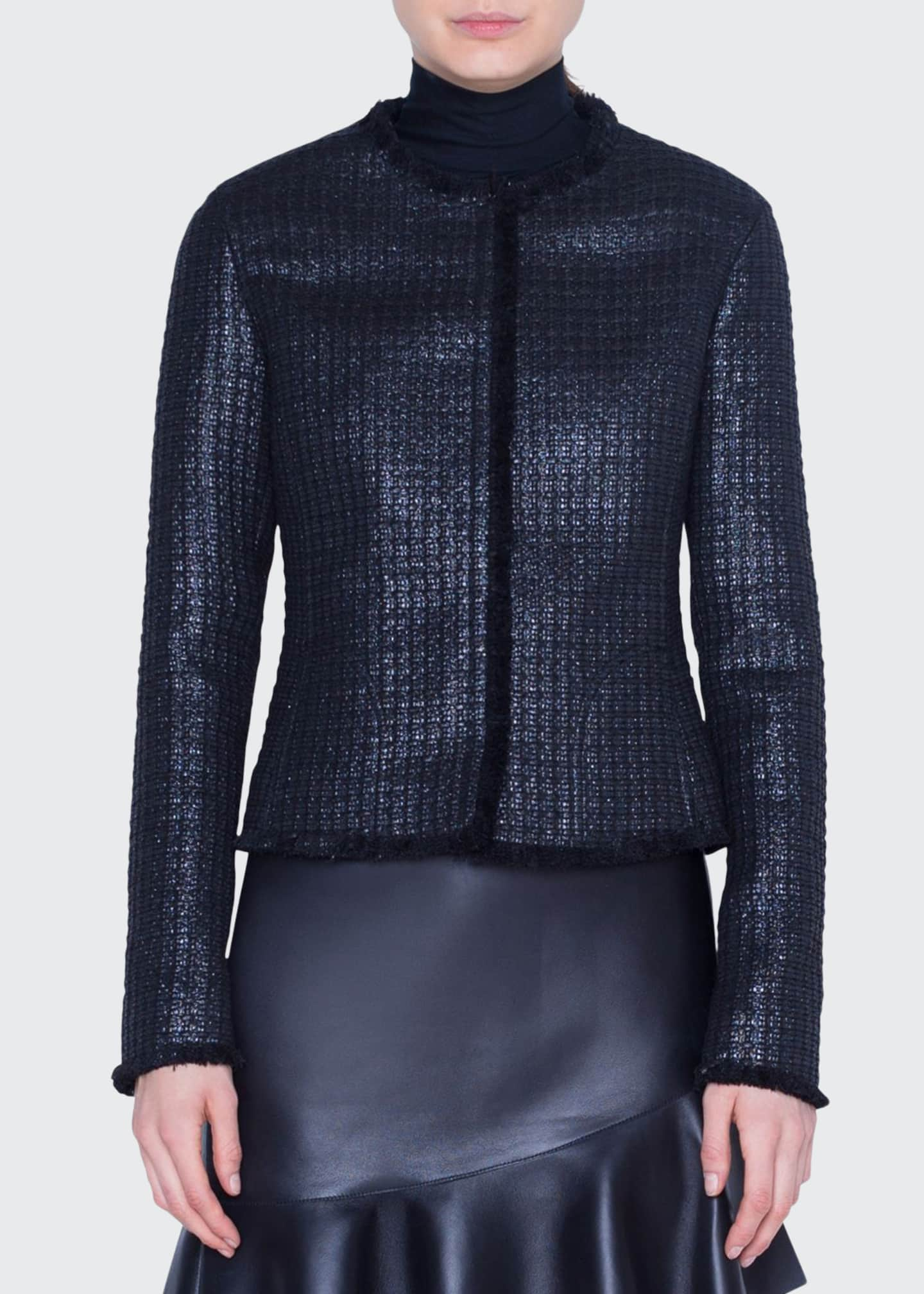 Akris punto Lacquered Tweed Jacket