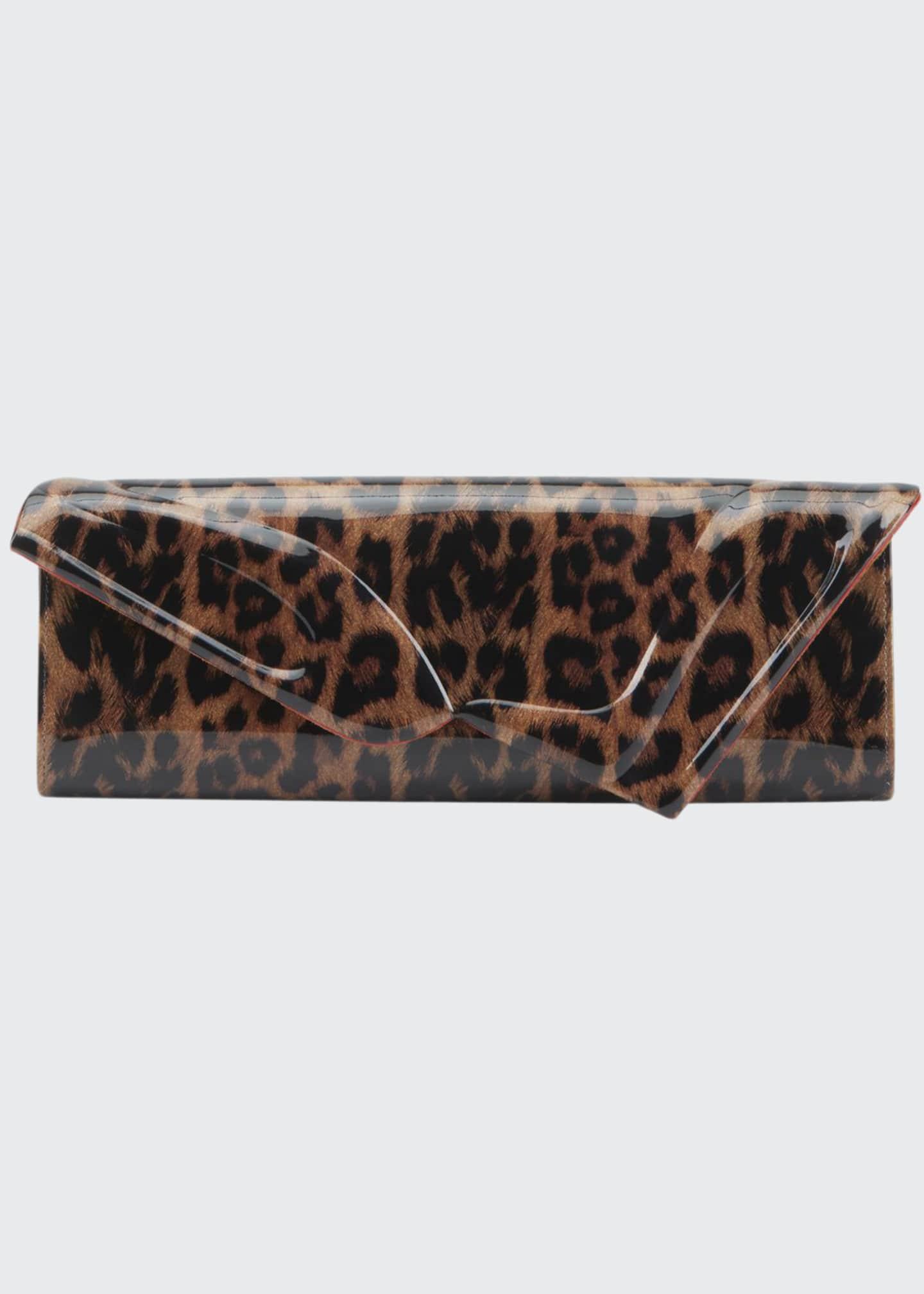 Christian Louboutin So Kate Leopard Baguette Clutch Bag