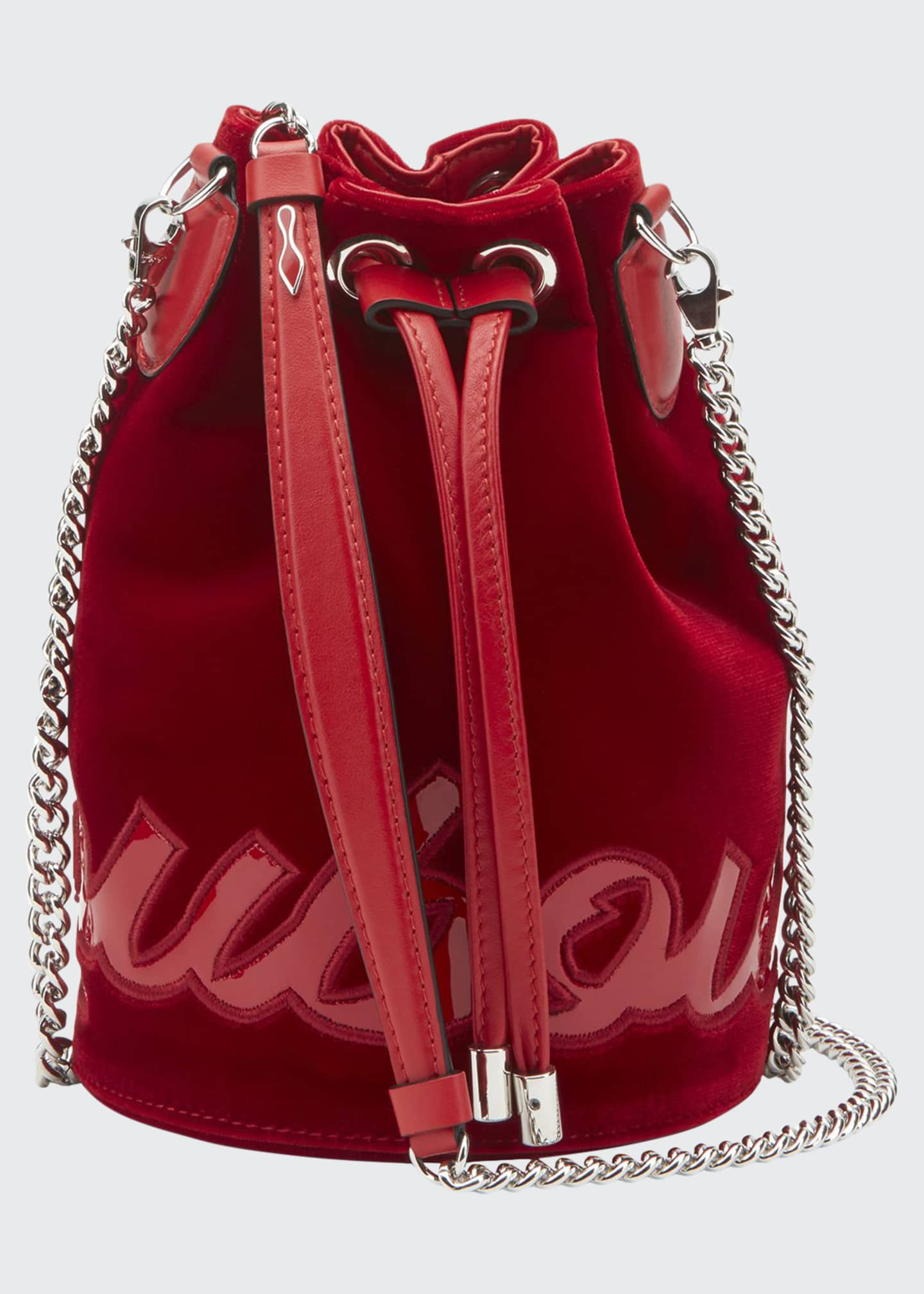 Image 1 of 1: Mary Jane Velvet Bucket Bag