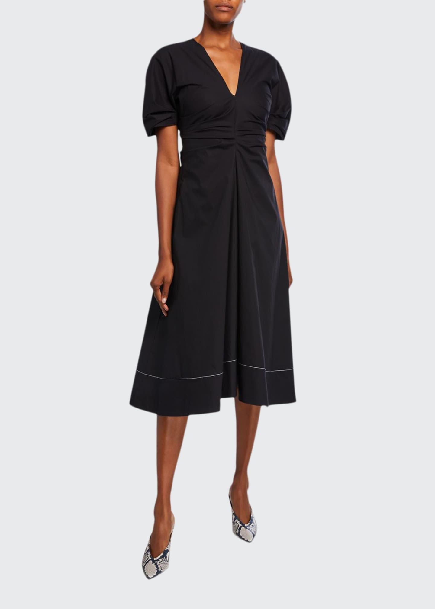 Proenza Schouler Stretch Cotton V-Neck Dress