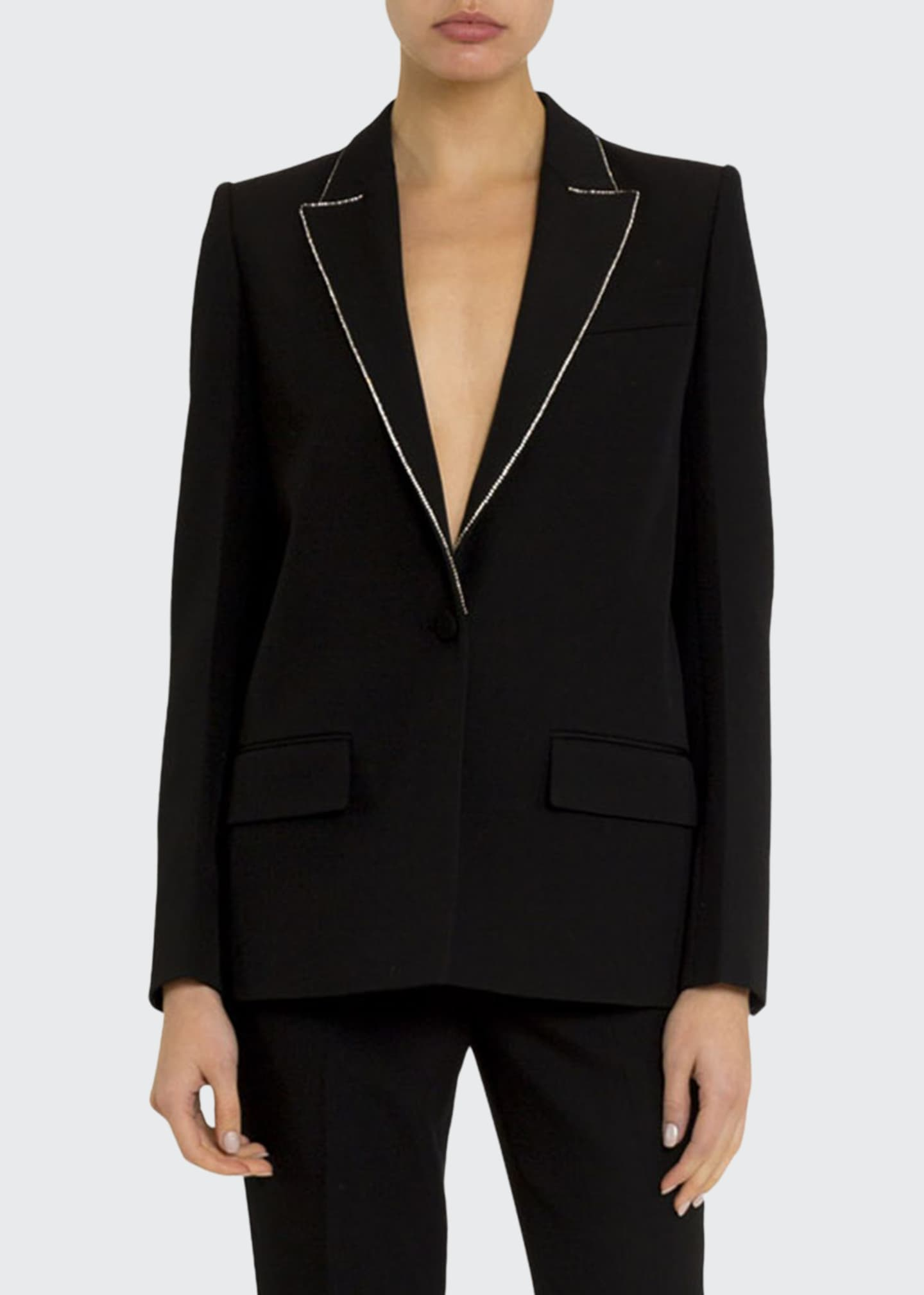 Givenchy Crystal-Trim Wool Blazer