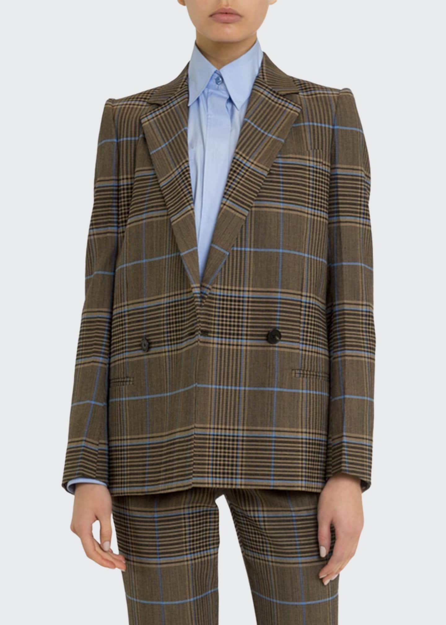 Givenchy Plaid Double-Breasted Blazer