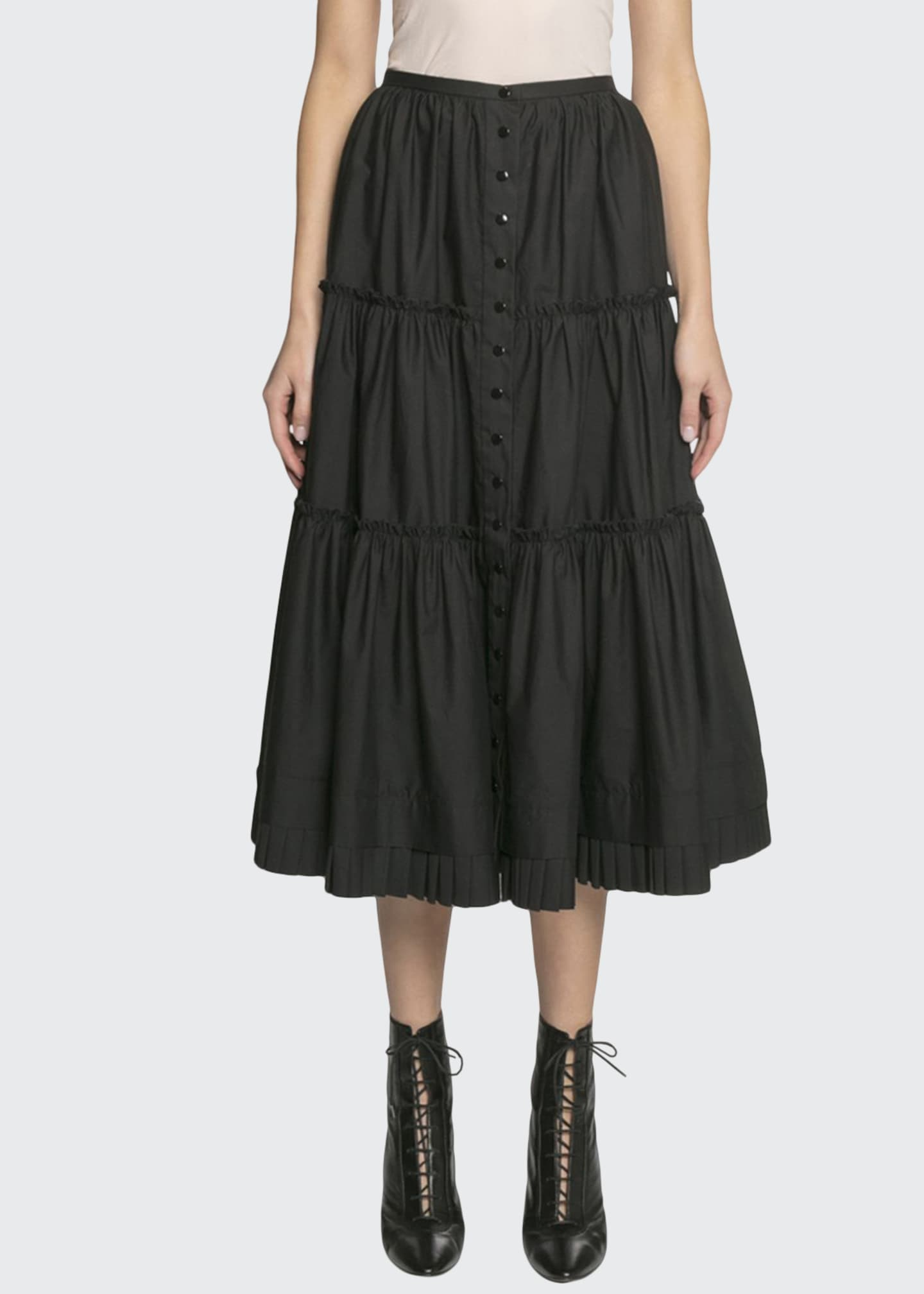 Image 1 of 2: The Prairie Tiered Ruffle Skirt