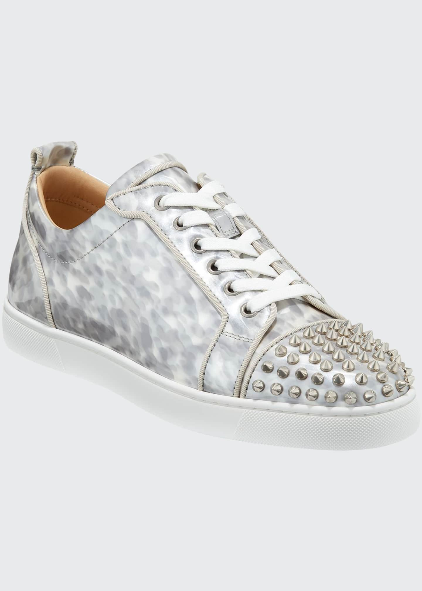 Christian Louboutin Men's Louis Junior Orlato Leather Sneakers