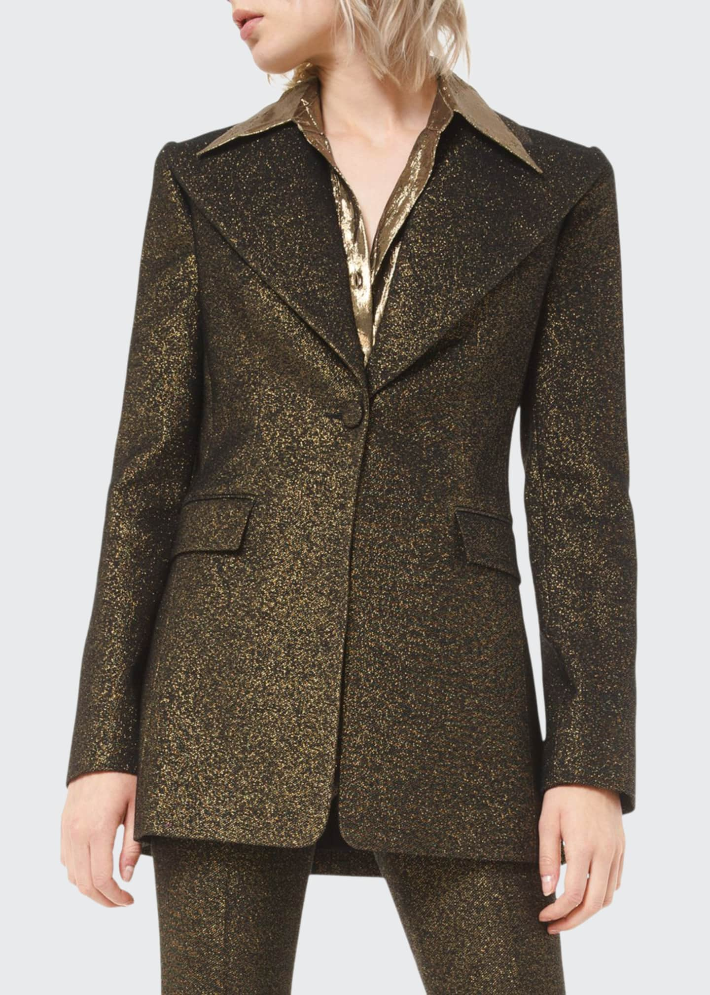 Image 1 of 2: Metallic Wool Blazer