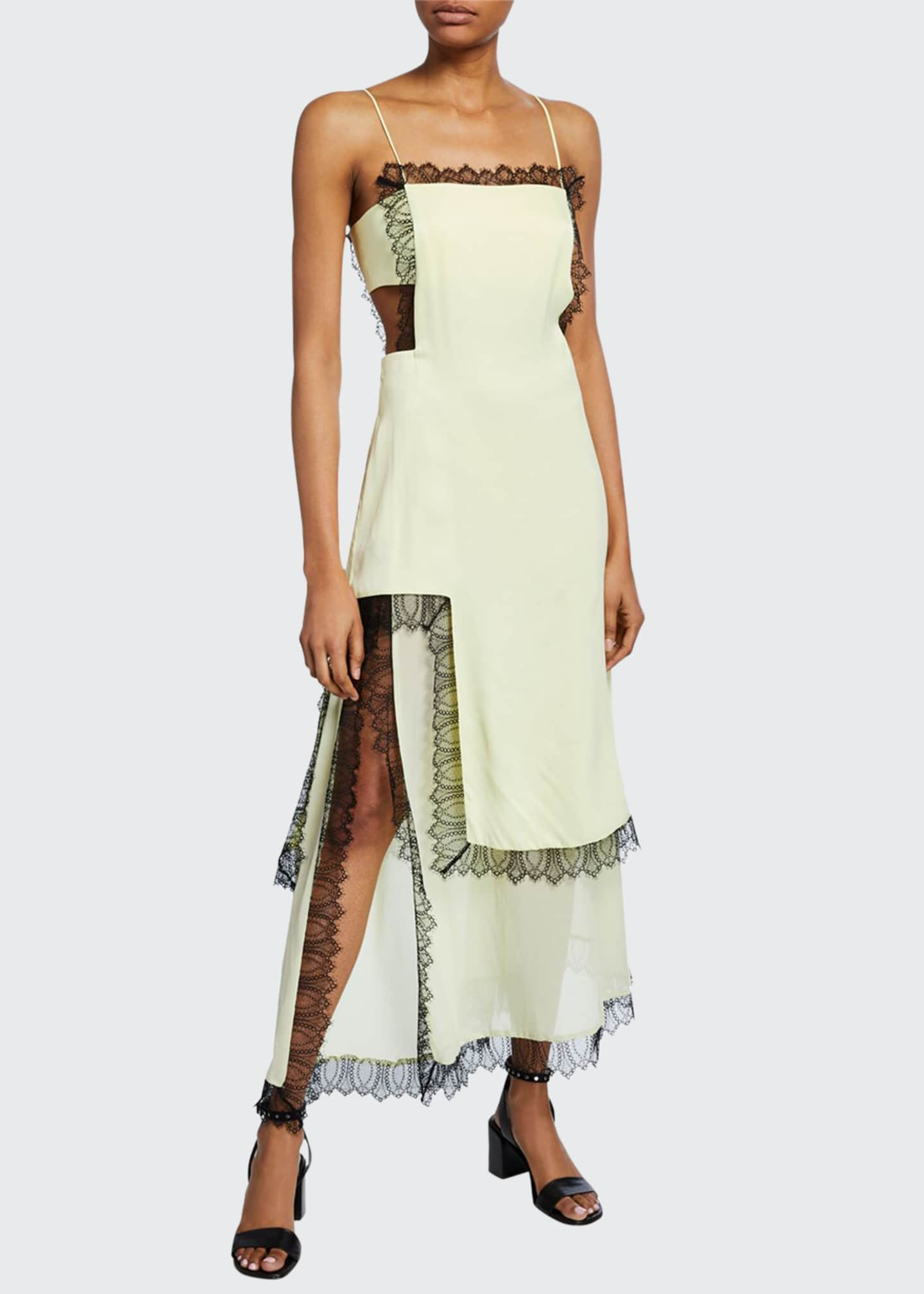 3.1 Phillip Lim Square-Neck Sleeveless Slit Dress with