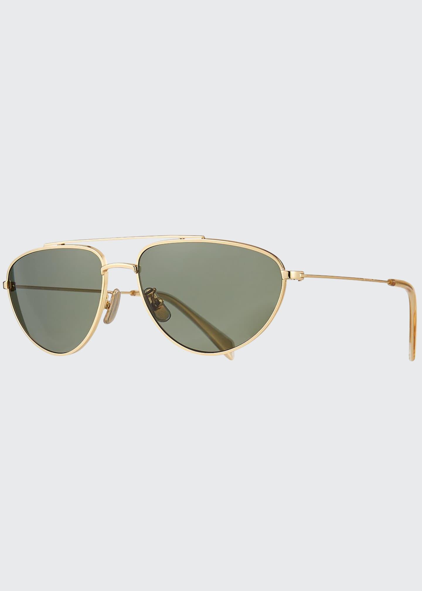 Celine Men's Metal Pilot Sunglasses, Gold