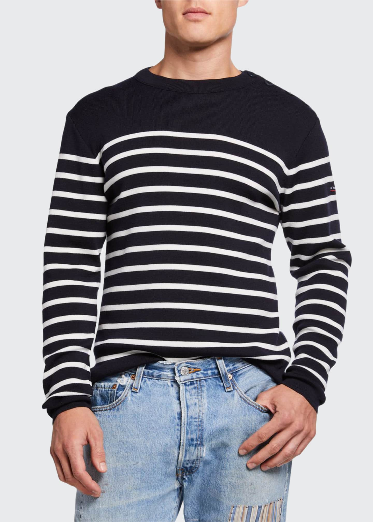 Armor Lux Men's Goulenez Striped Wool Sweater