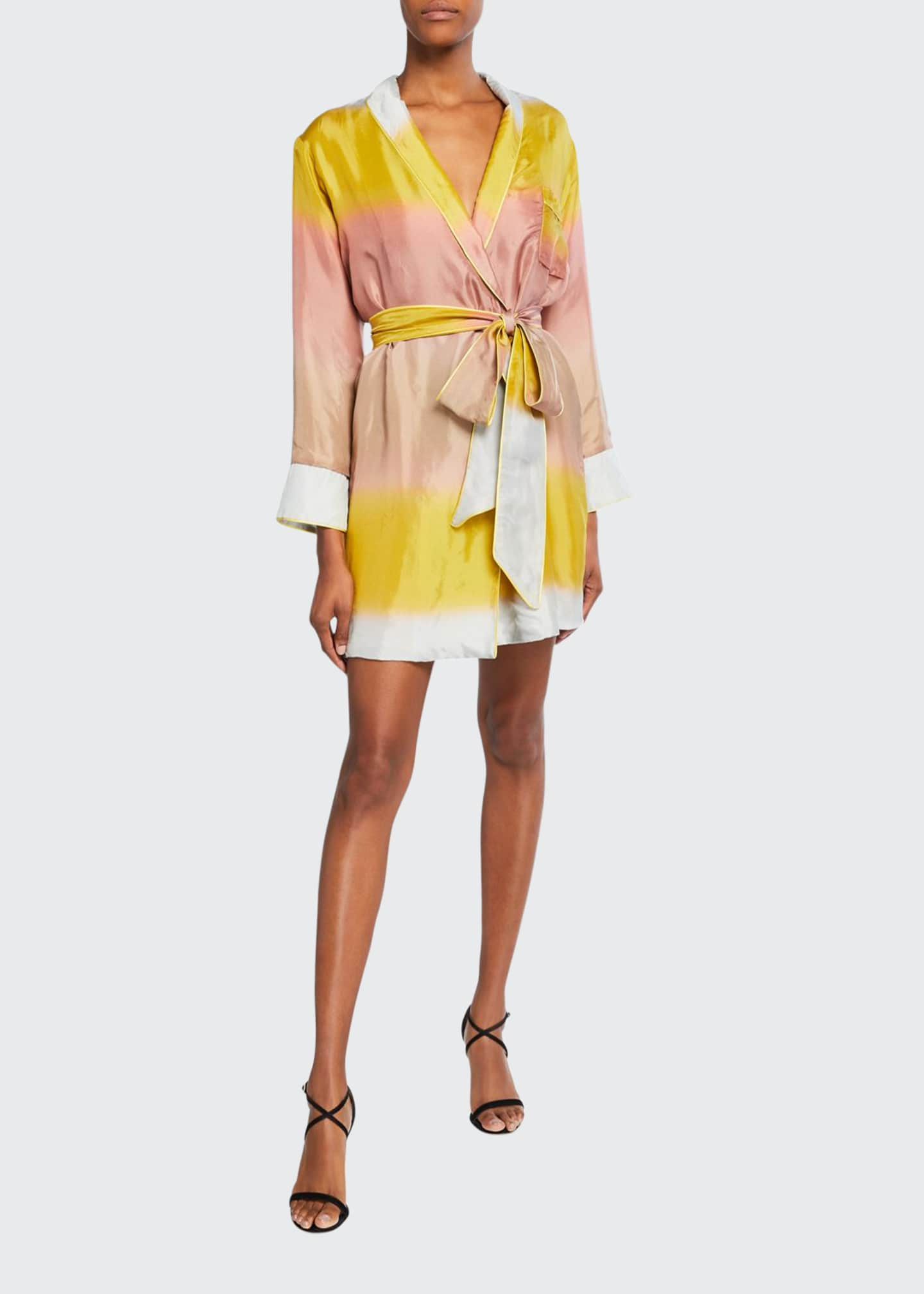 Le Superbe Horizon's West Colorblock Mini Robe Dress