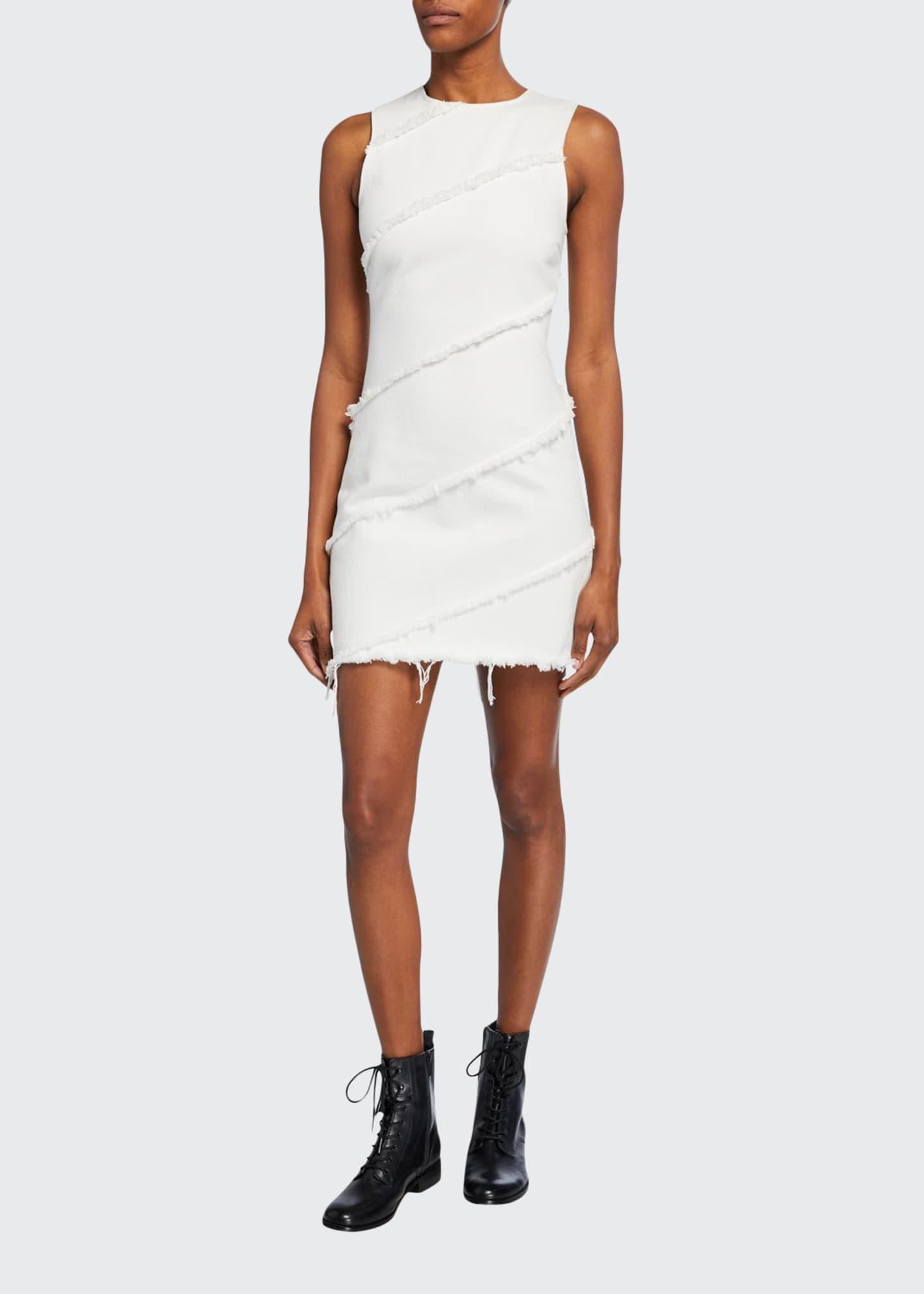 alexanderwang.t Diagonal Seamed Sleeveless Sheath Dress