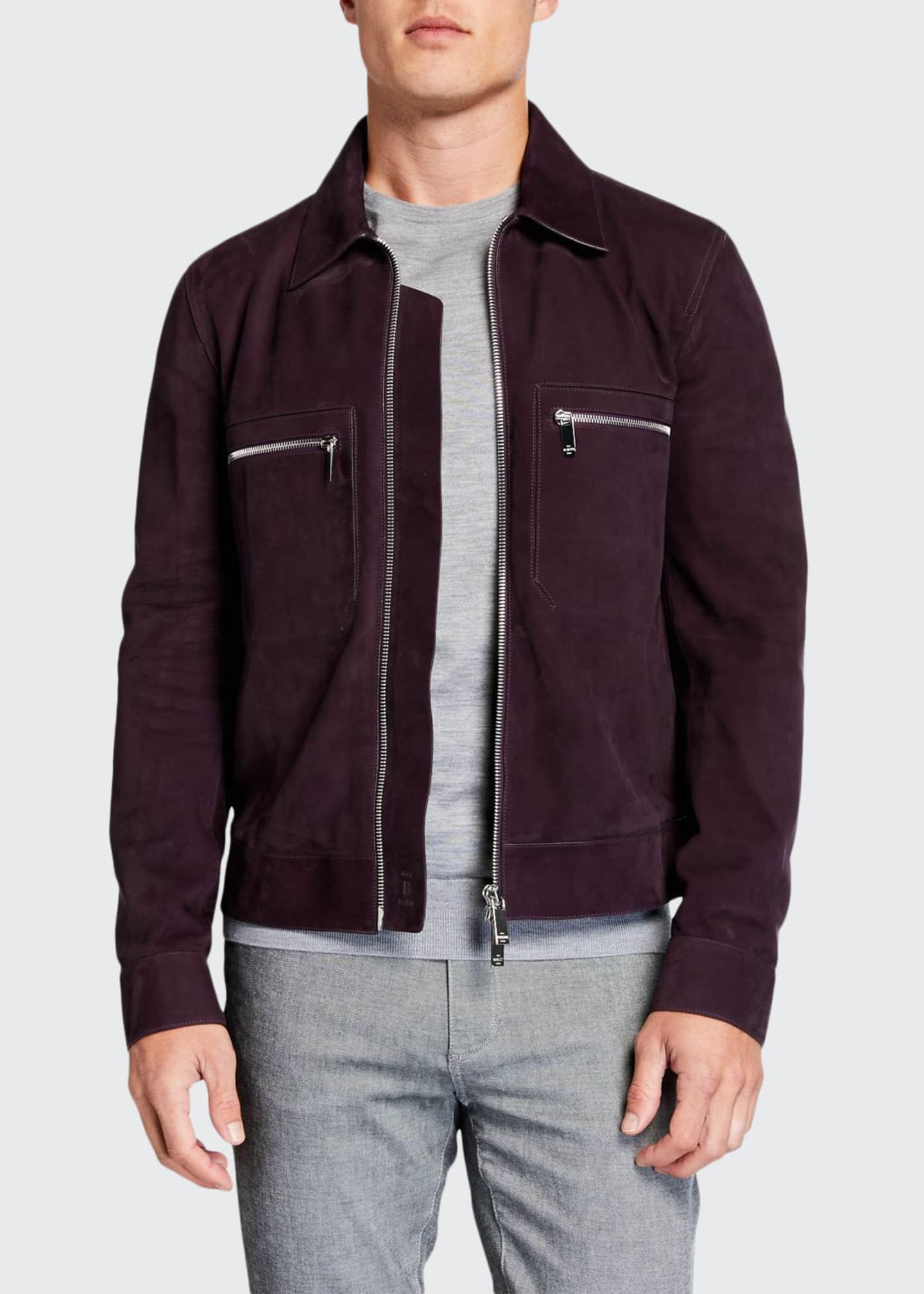 Berluti Men's Suede Jacket w/ Silvertone Hardware