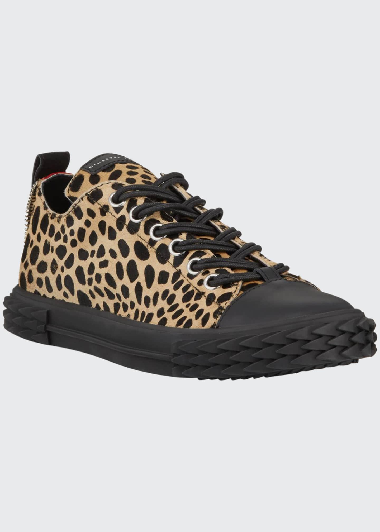 Giuseppe Zanotti Men's Blabber Leopard Low-Top Sneakers