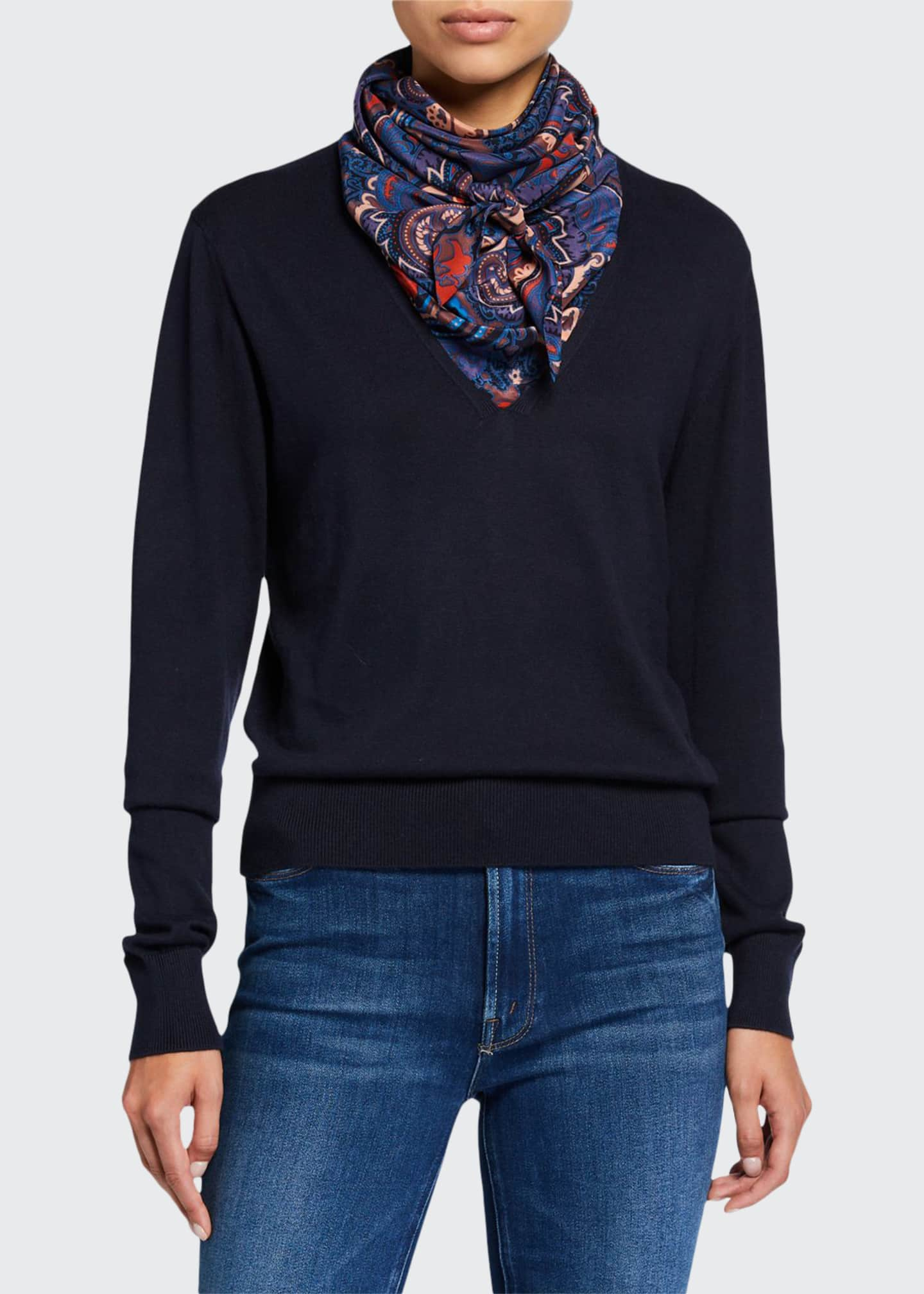 See by Chloe Combo Pullover Sweater with Silk