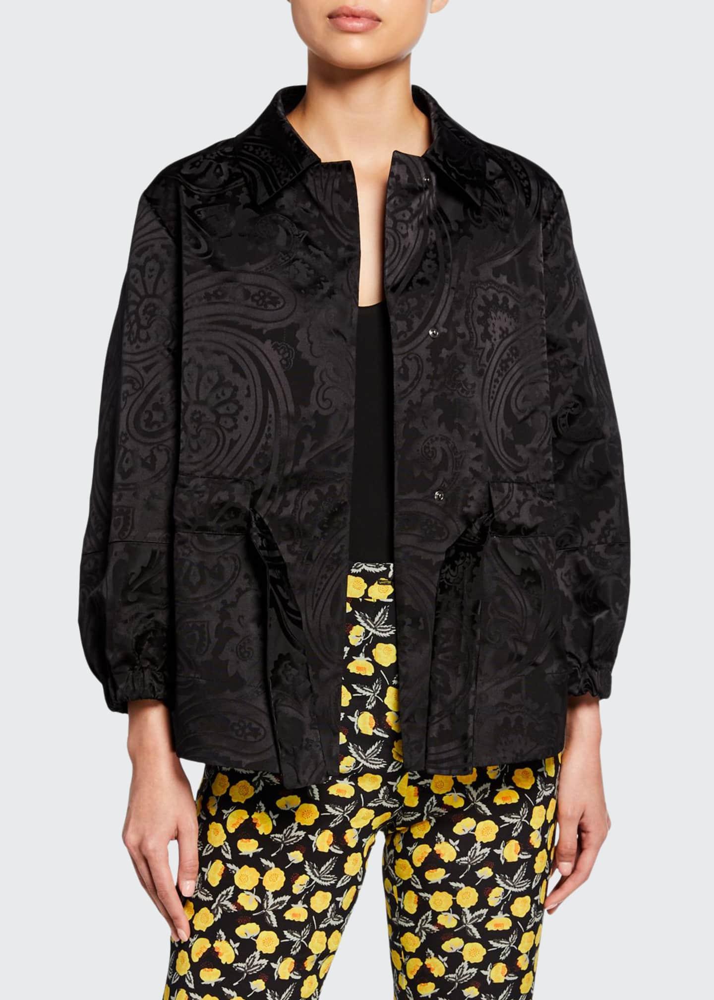 Etro Monochromatic Paisley-Jacquard Evening Jacket