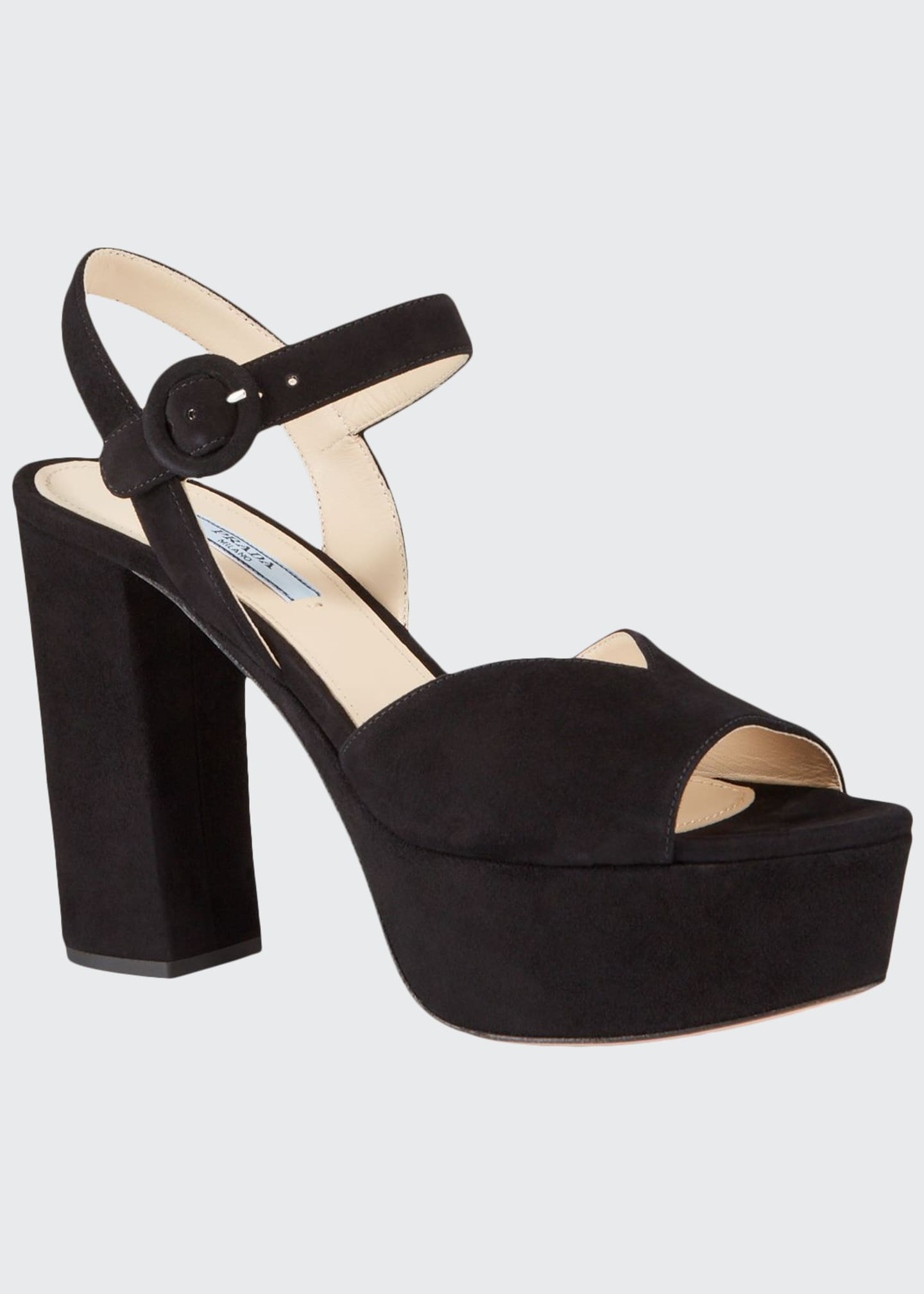 Image 1 of 3: 105mm Suede Platform Sandals