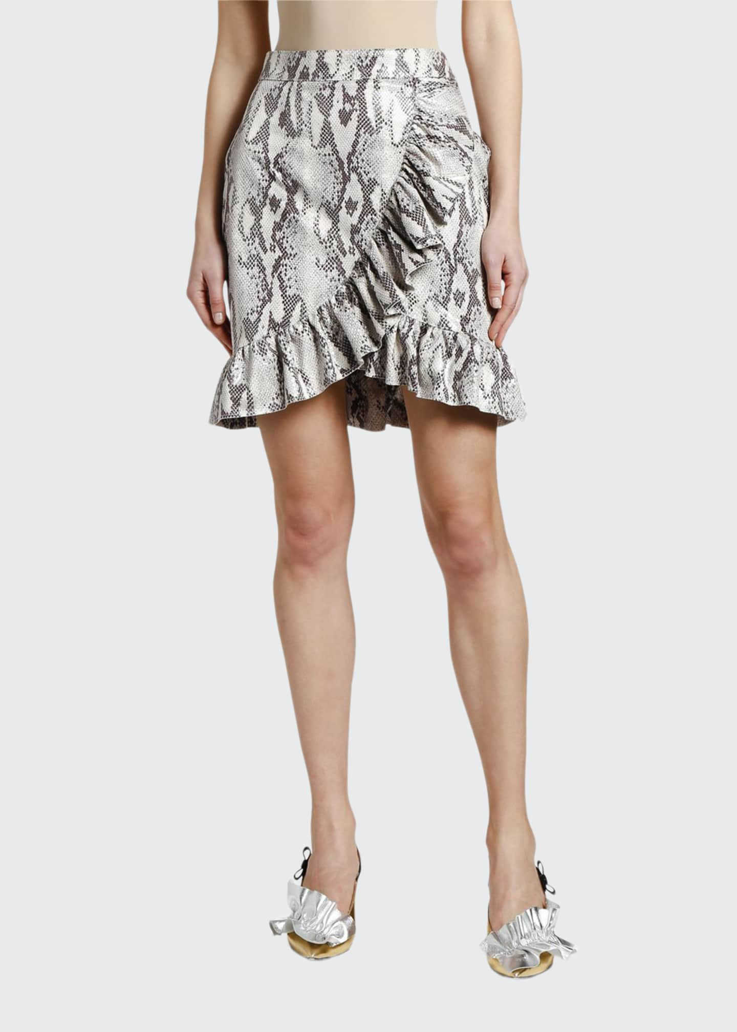 Image 1 of 3: Snake Ruffle Wrap Skirt