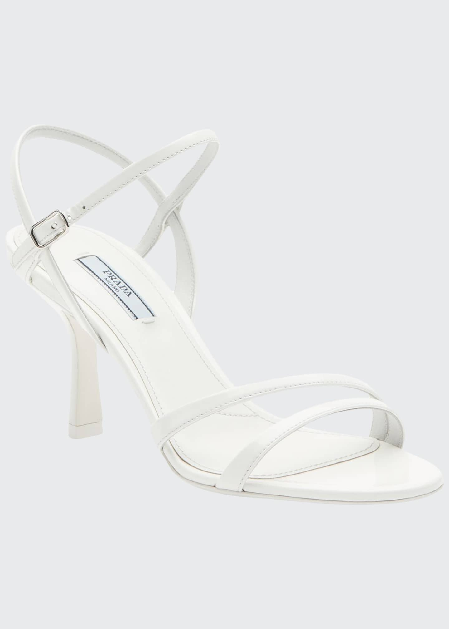Prada Patent Strappy Ankle Sandals