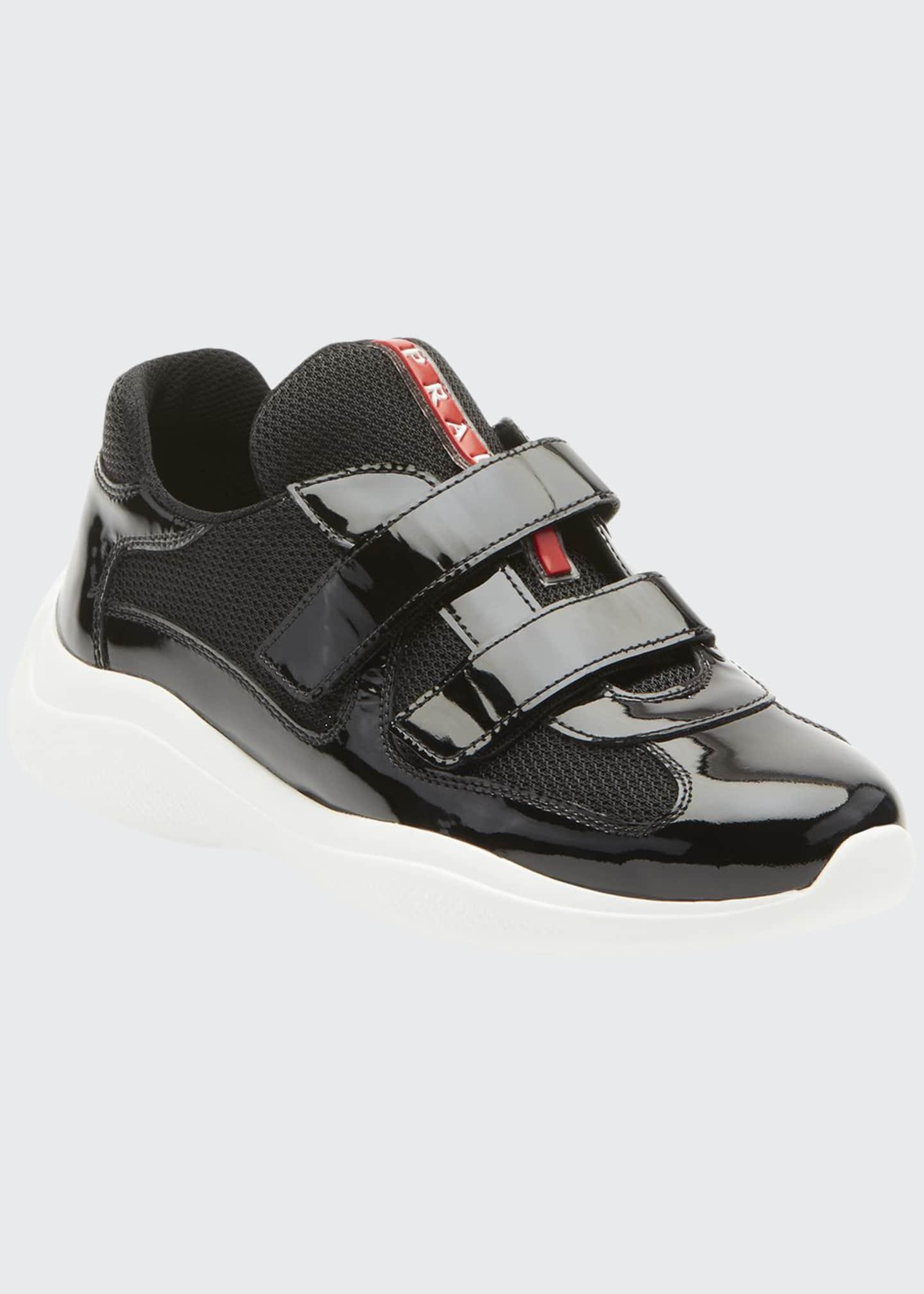 Prada Barca Mesh/Patent Grip Sneakers