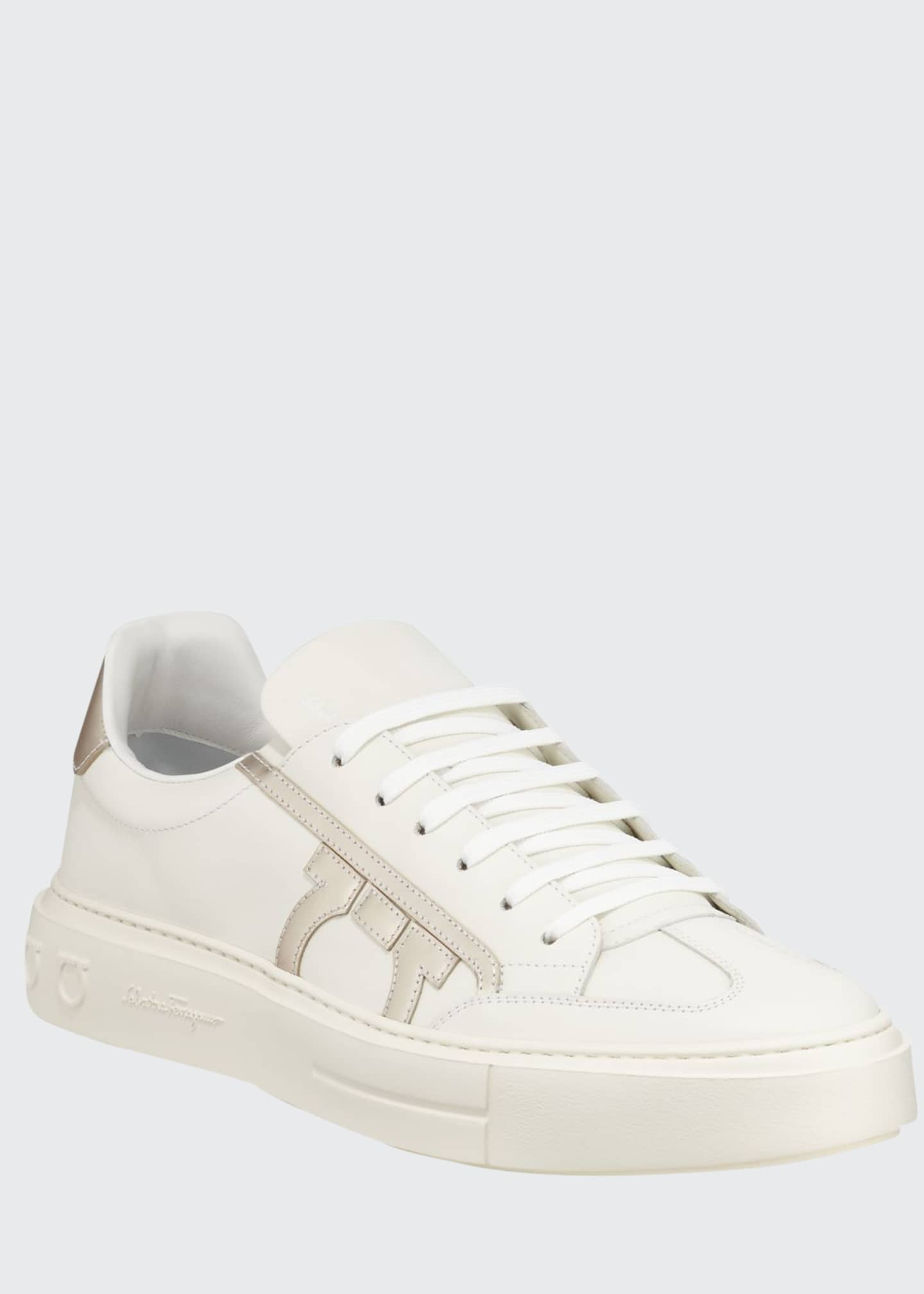 Image 1 of 3: Men's Borg Low-Top Leather Sneakers