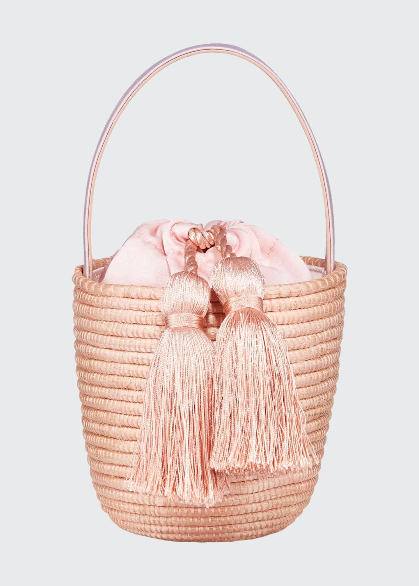 Cesta Collective Woven Party Pail Bucket Bag, Light