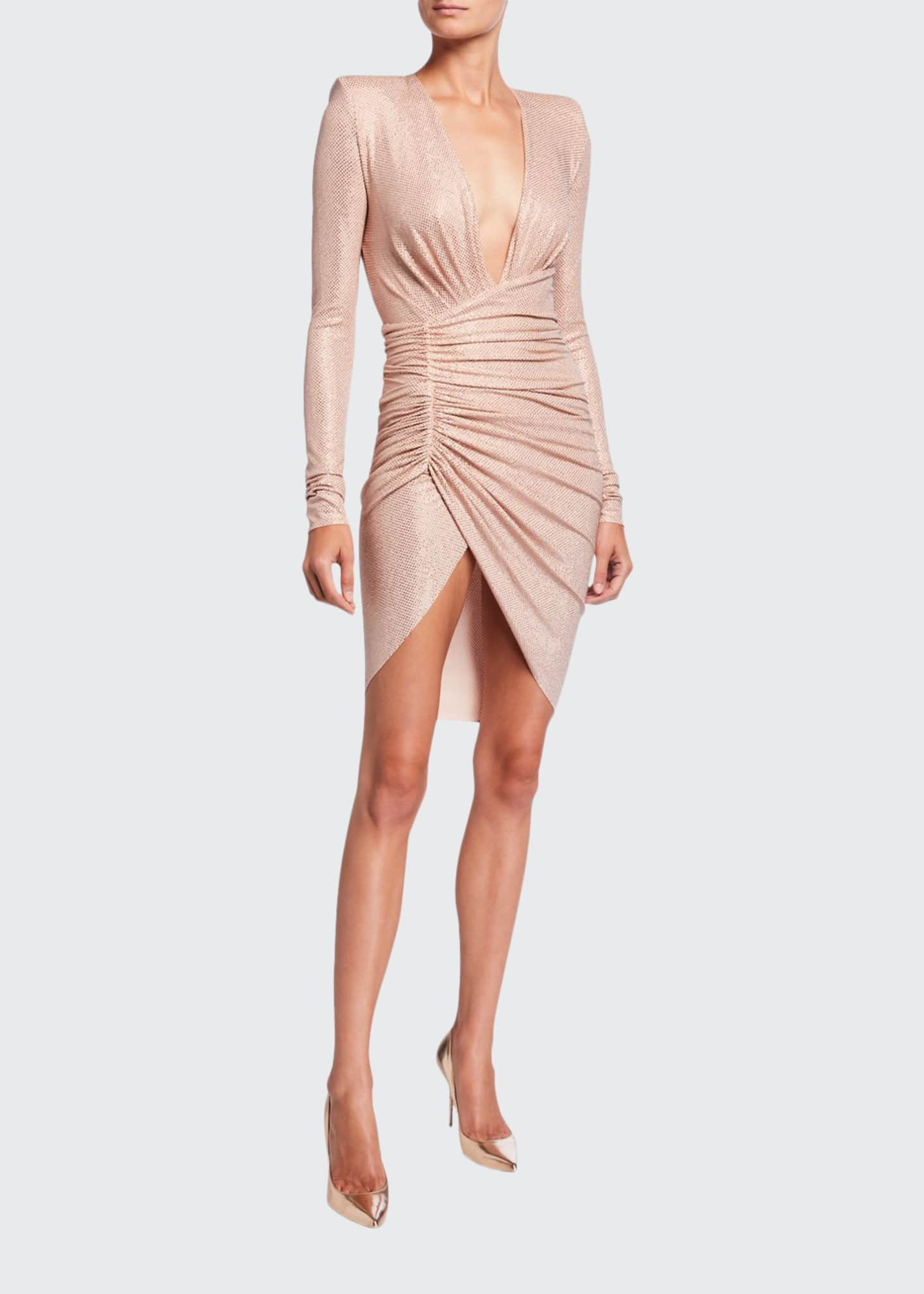 Alexandre Vauthier Micro-Crystal Deep-V Dress