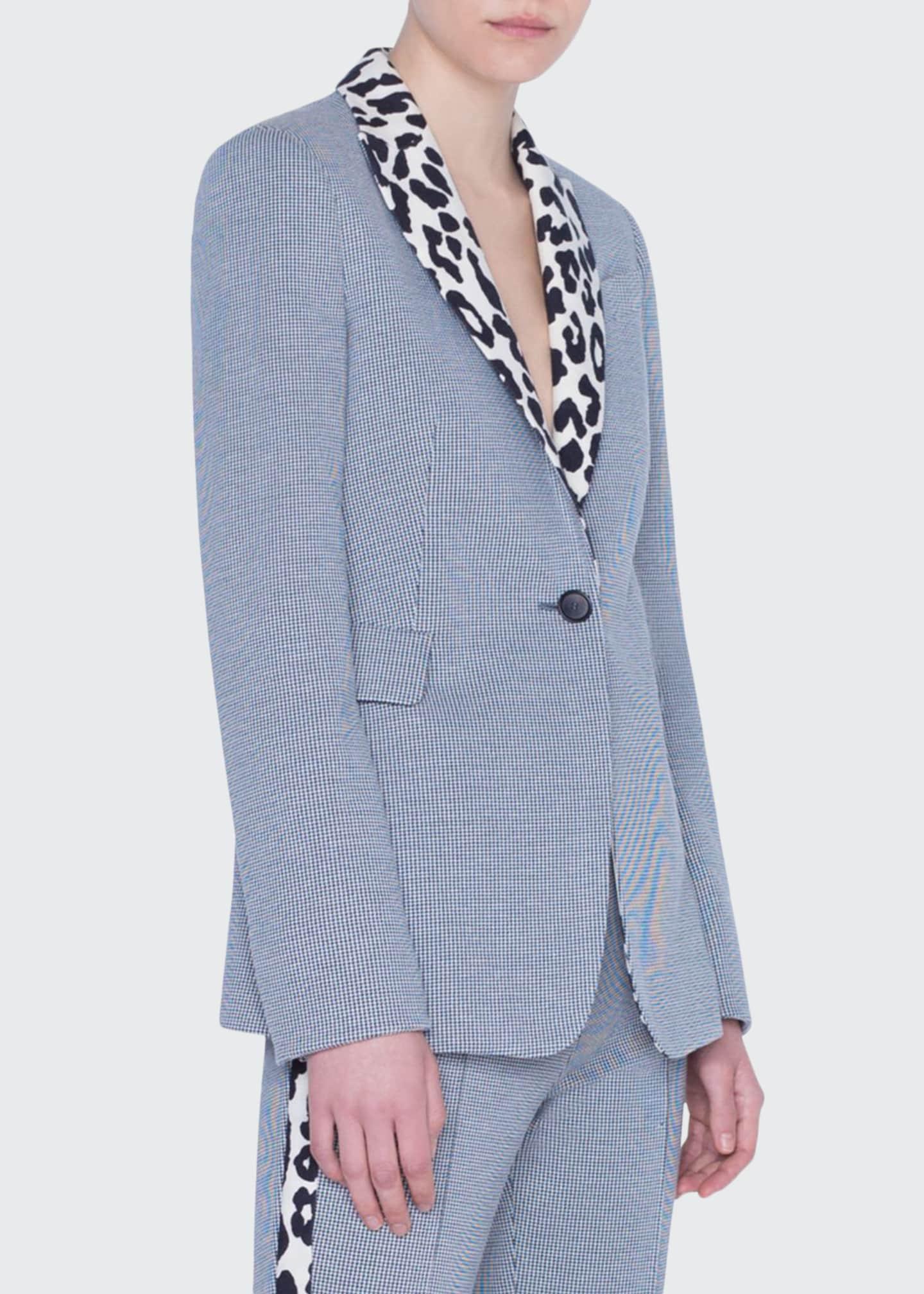 Akris punto Leopard-Collar Blazer Jacket