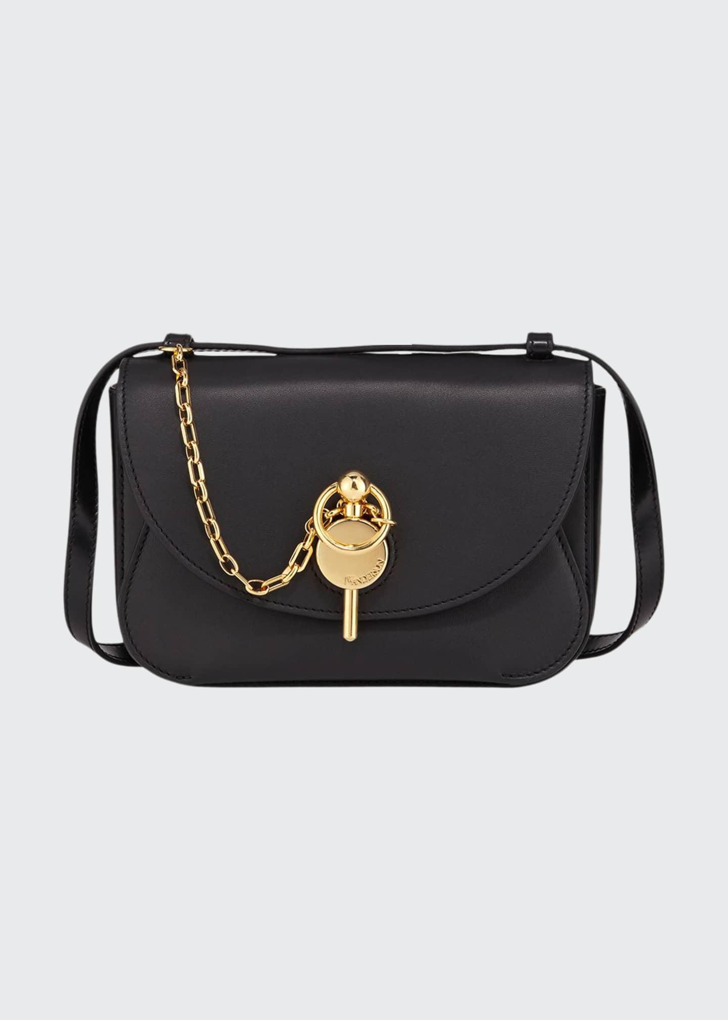 JW Anderson Mini Keys Buffed Leather Crossbody Bag