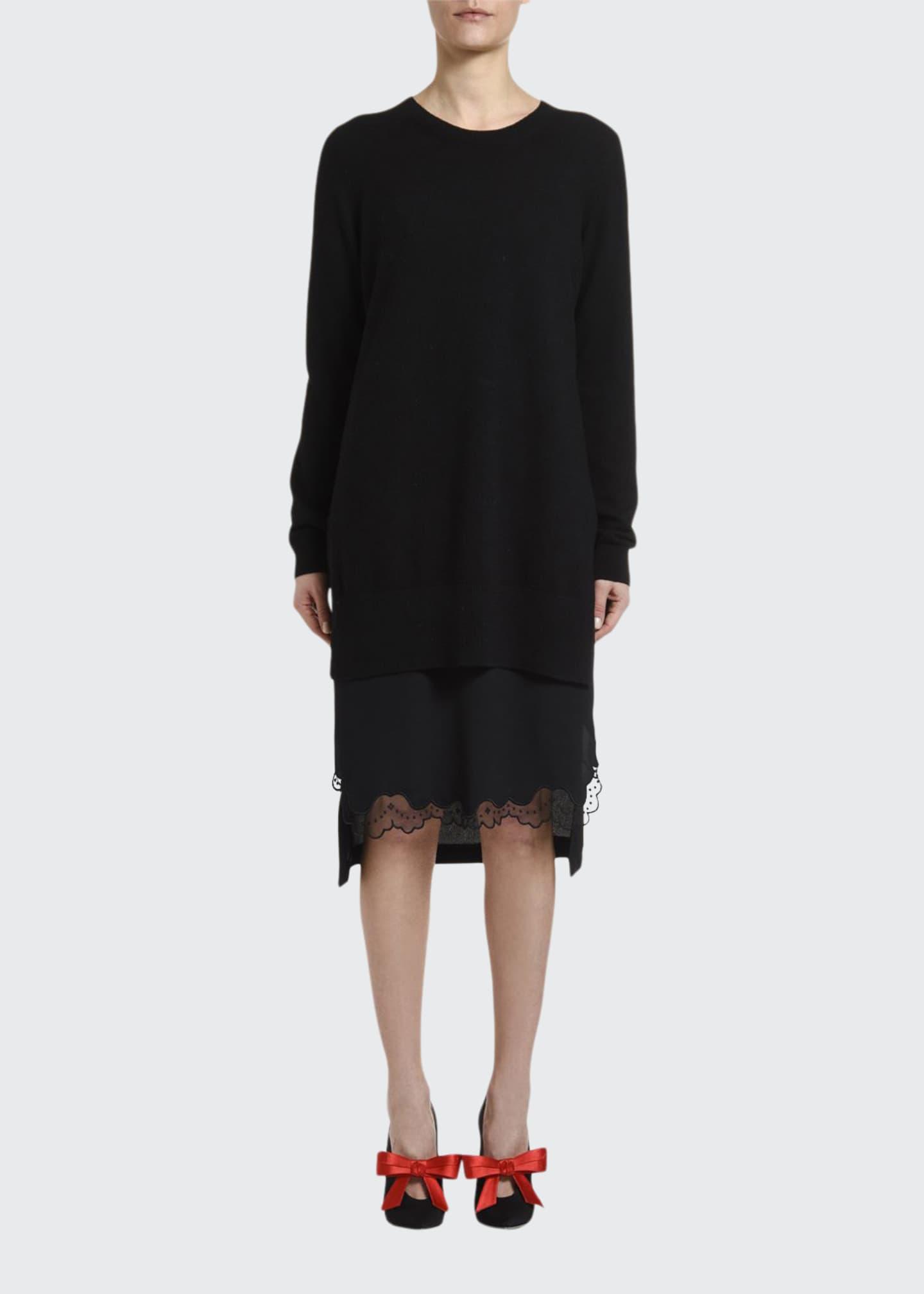 No. 21 Combo Slip Sweater Dress