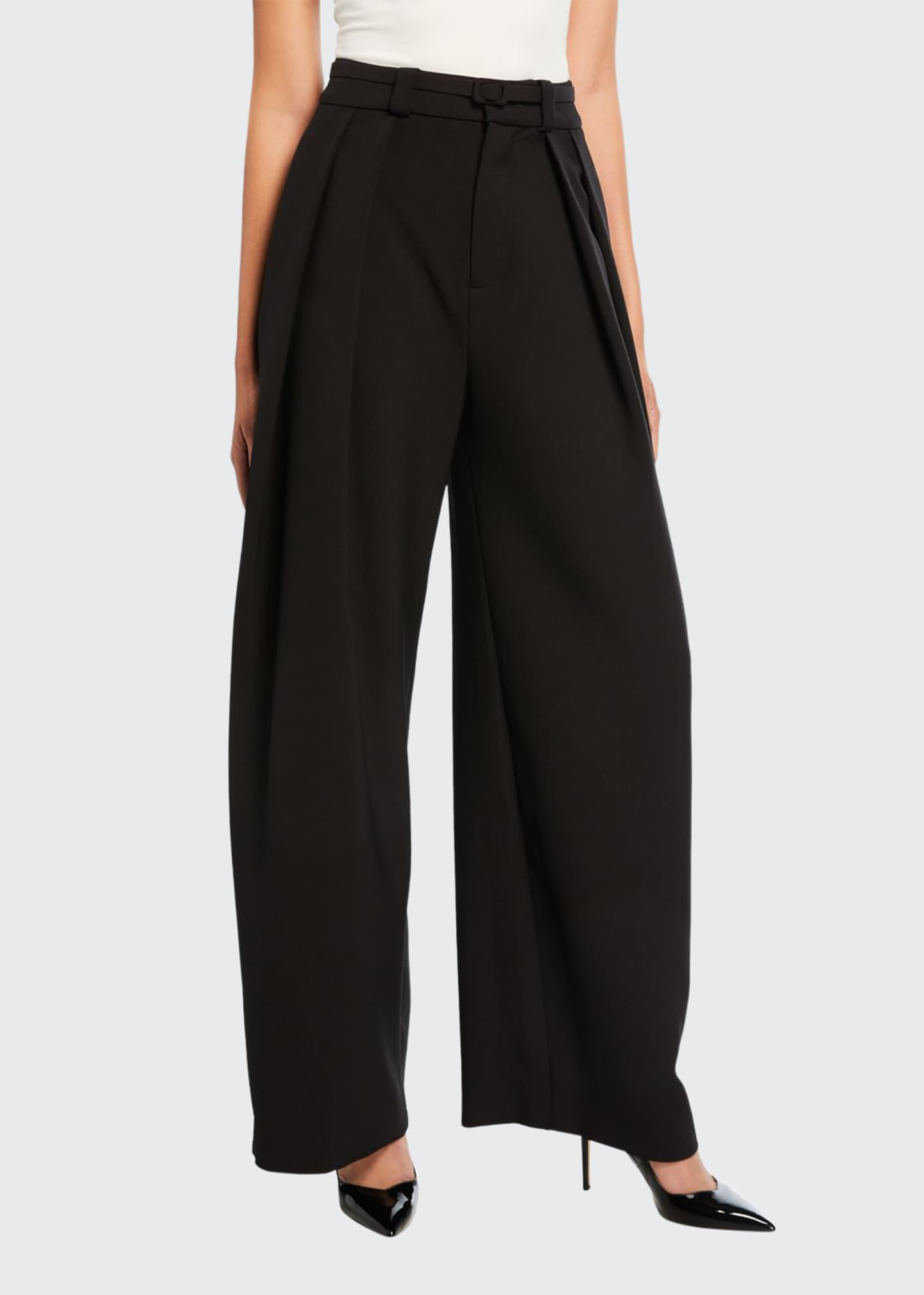 Carmen March Crepe Wide-Leg Pants