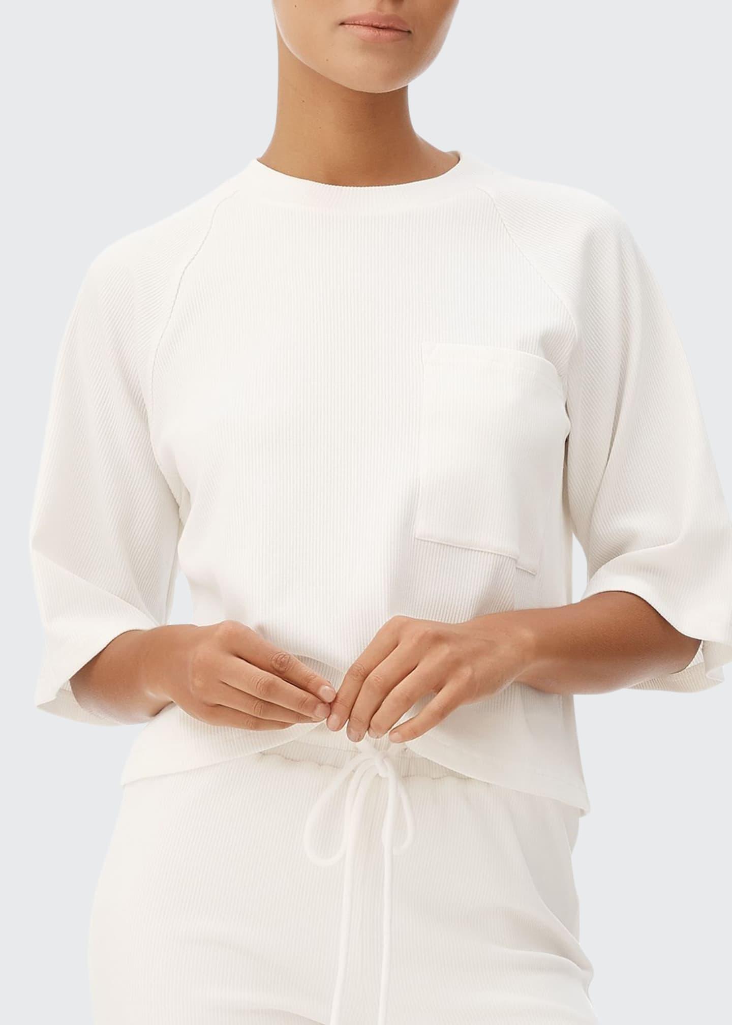 All Fenix Lyla Elbow-Sleeved Ribbed Tee