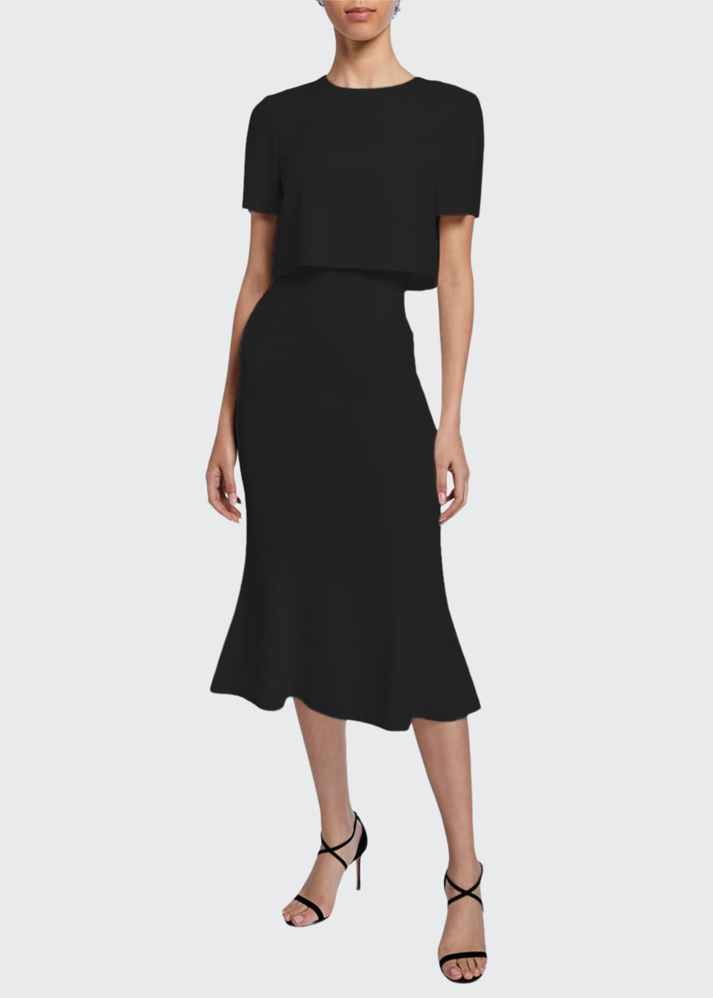 Image 1 of 2: Convertible Soft Crepe Midi Dress