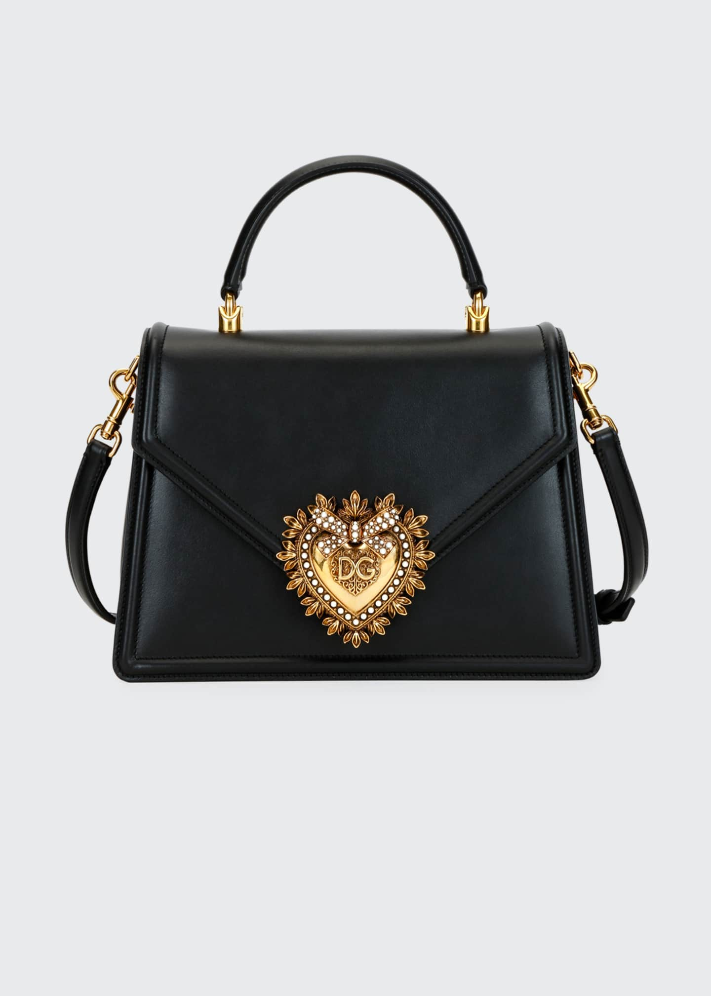 Dolce & Gabbana Devotion Leather Shoulder Bag