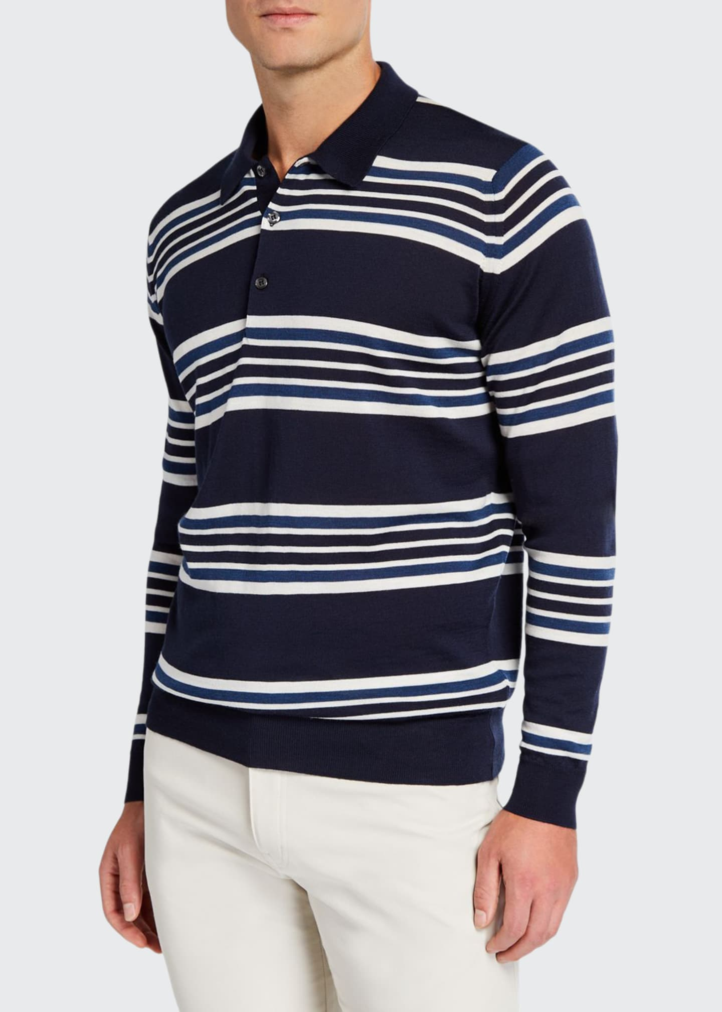 Lou Dalton x John Smedley Men's Striped Long-Sleeve