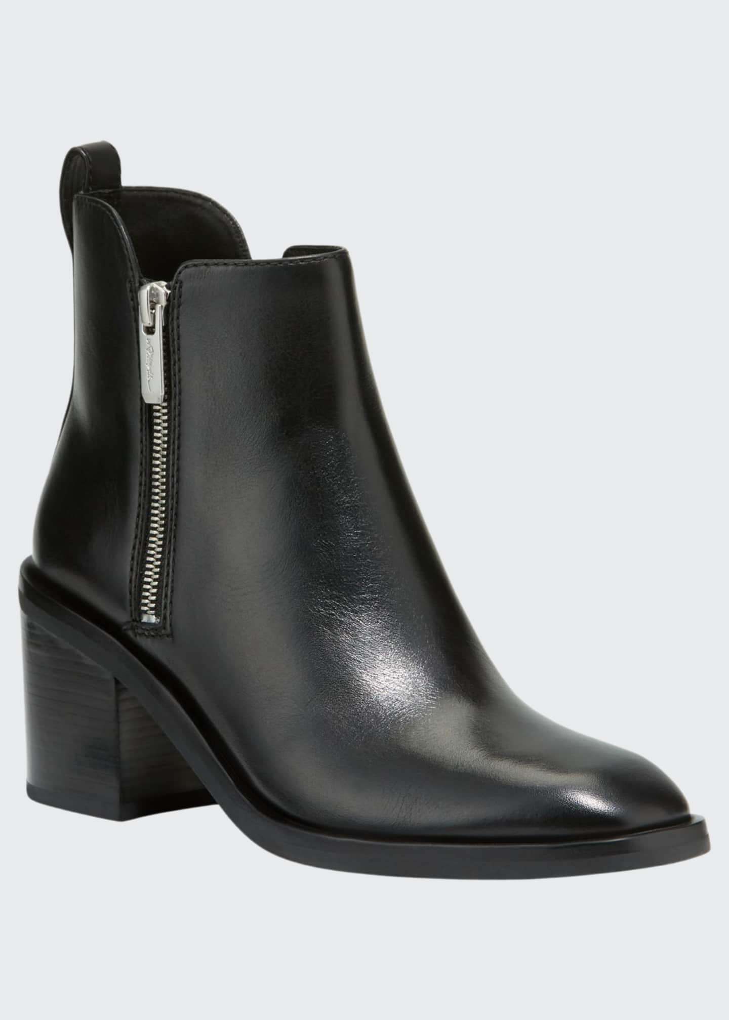 3.1 Phillip Lim Alexa Leather Double-Zip Ankle Booties
