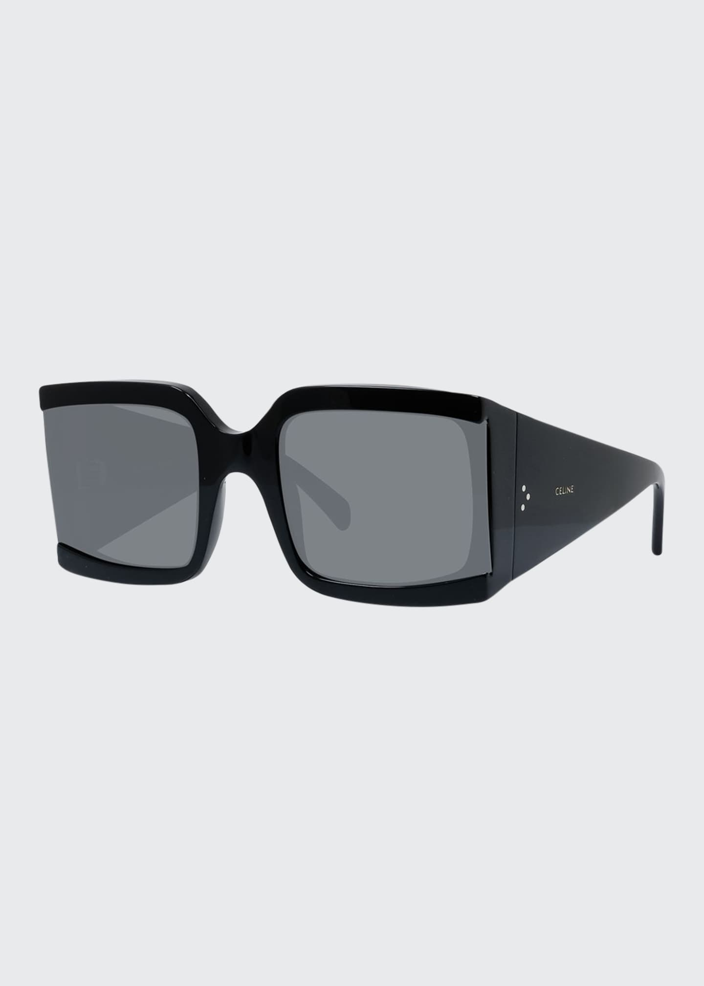 Celine Square Shield Acetate Sunglasses
