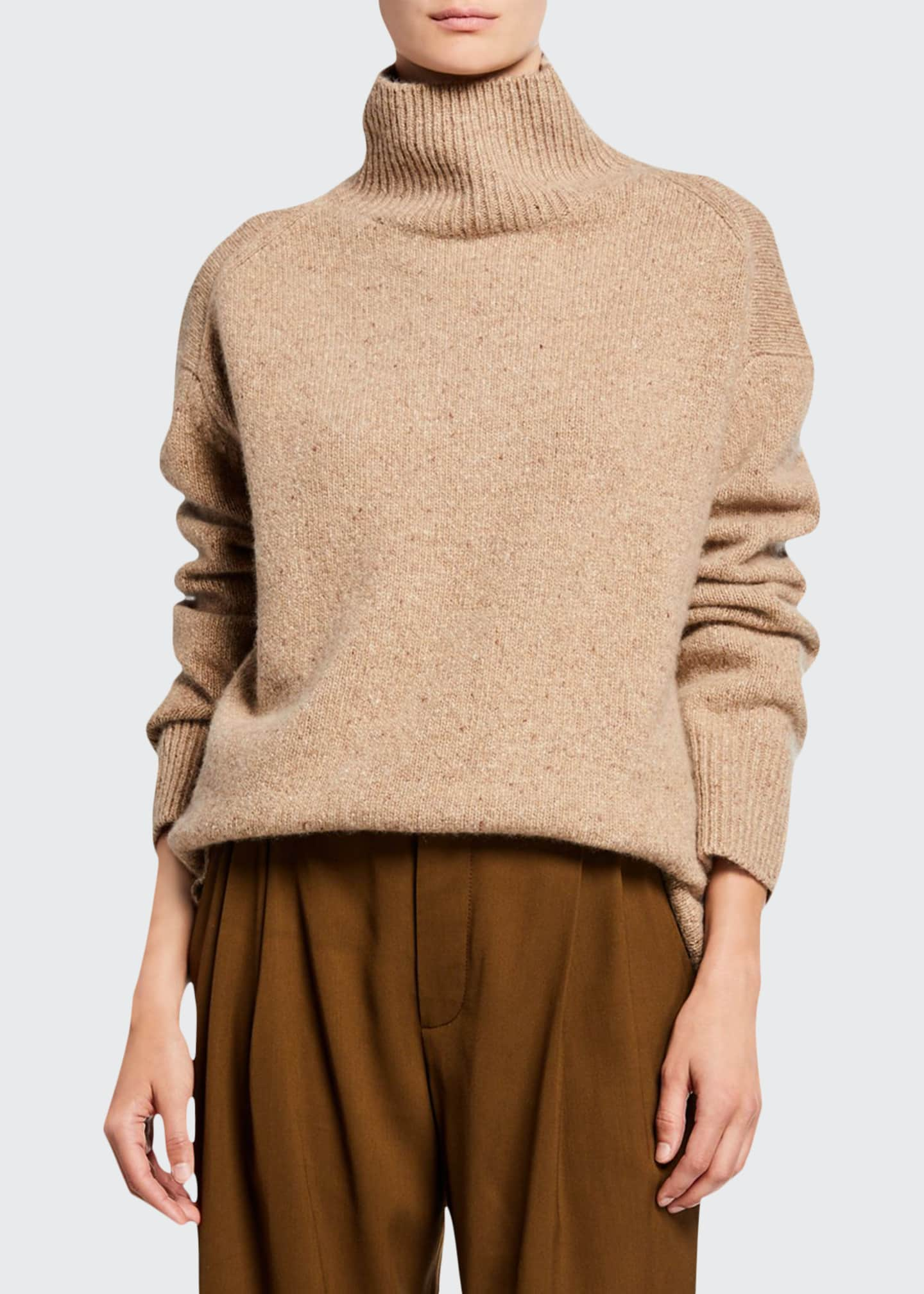 Vince Cashmere Double-Slit Turtleneck Sweater