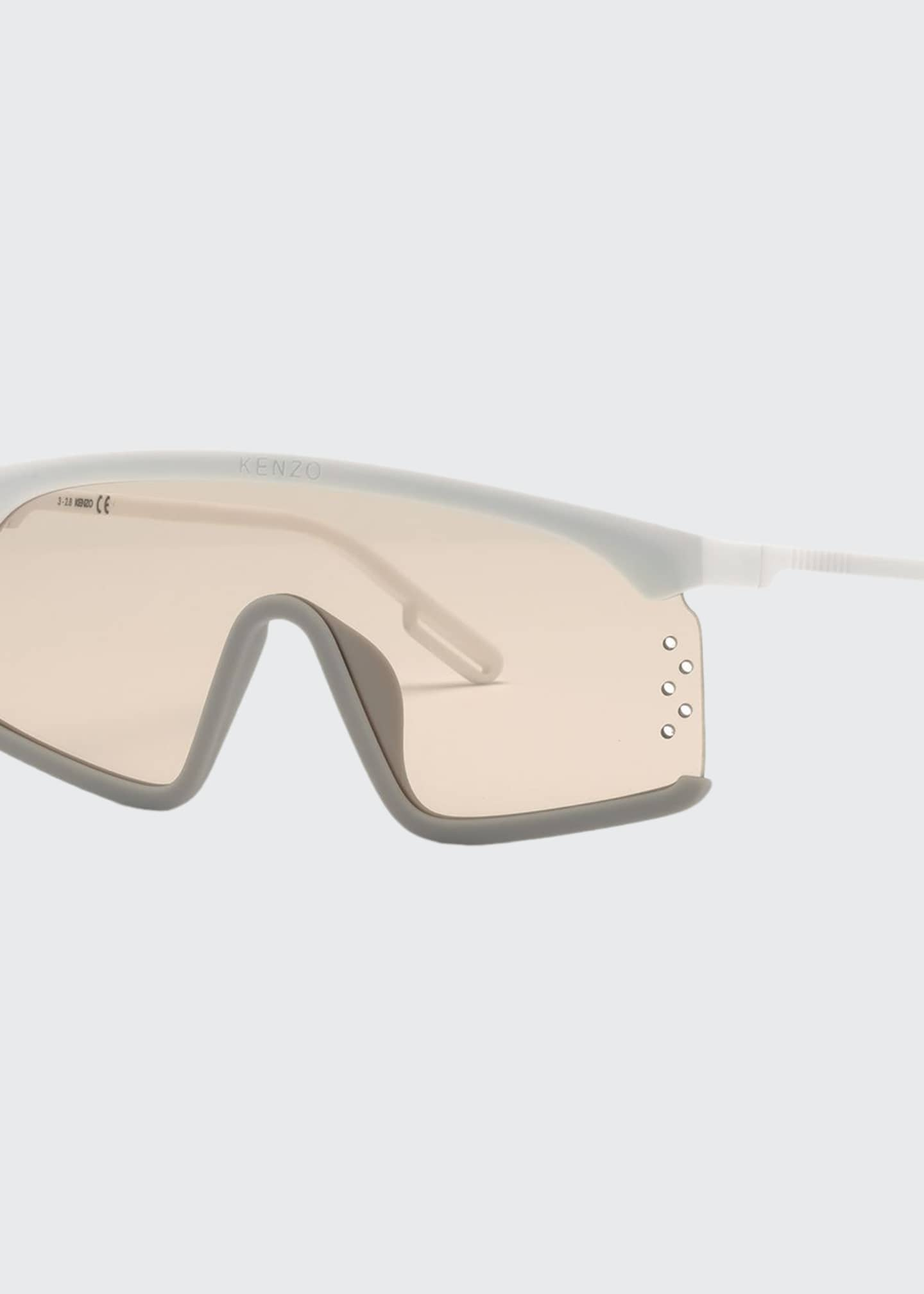 Kenzo Men's Shield Injected Plastic Sunglasses